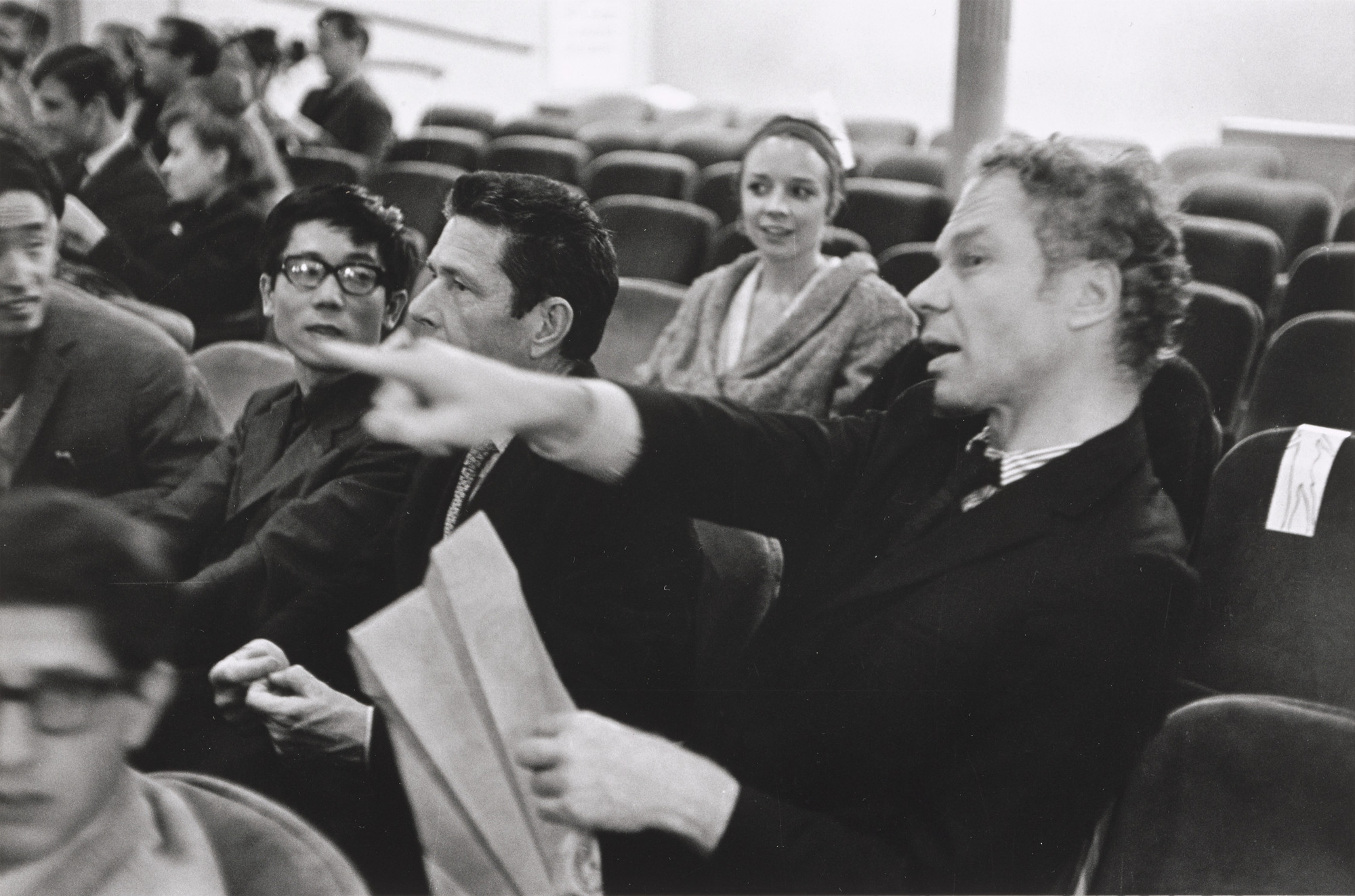 Fred W. McDarrah. Audience including John Cage at Fluxorchestra at Carnegie Recital Hall, September 25, 1965. 1965 (printed 2014)