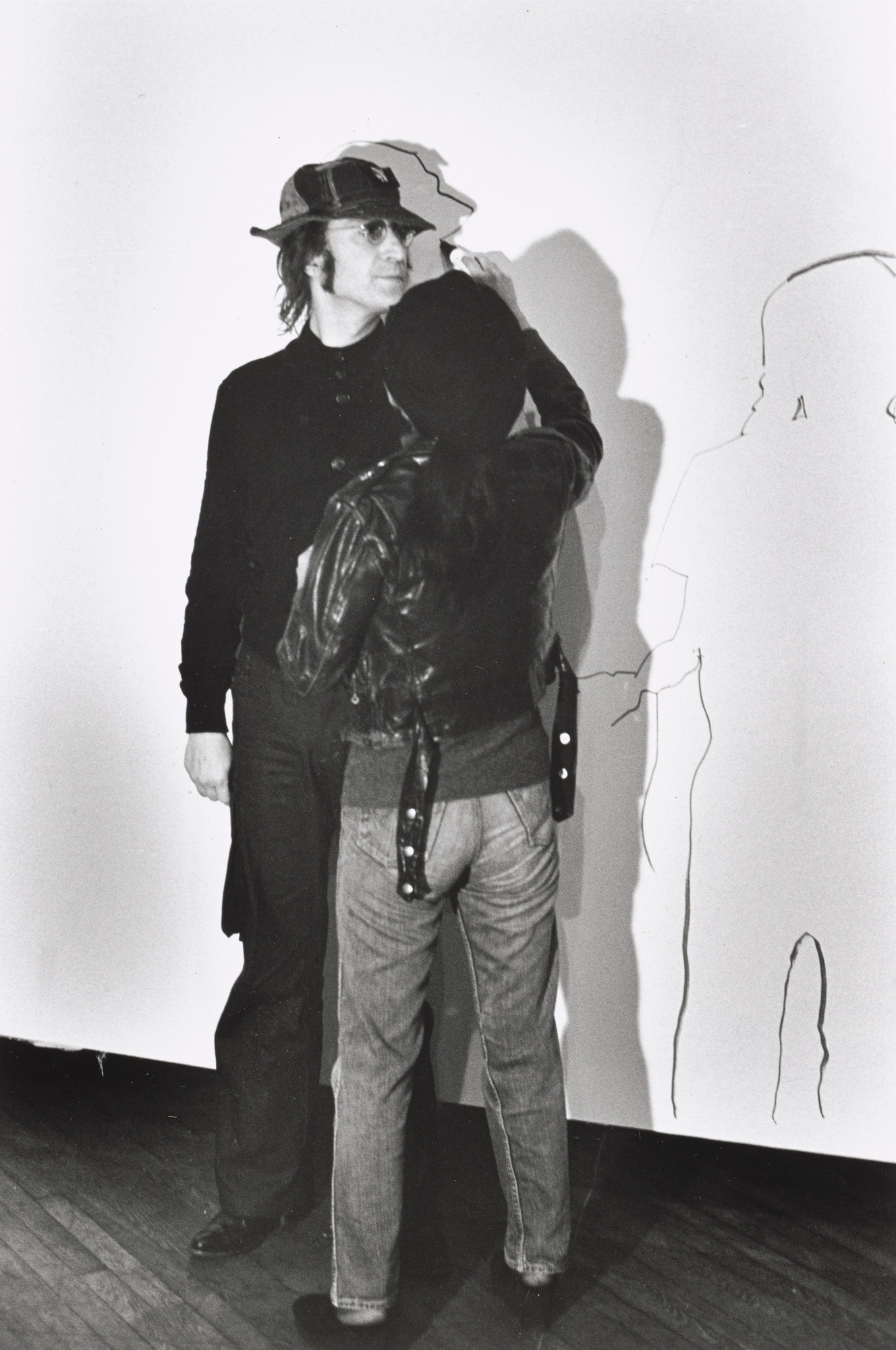 Fred W. McDarrah. Shadow Painting, performed during 8th Annual New York Avant Garde-Festival, 69th Regiment Armory, New York, November 19, 1971. 1971 (printed 2014)