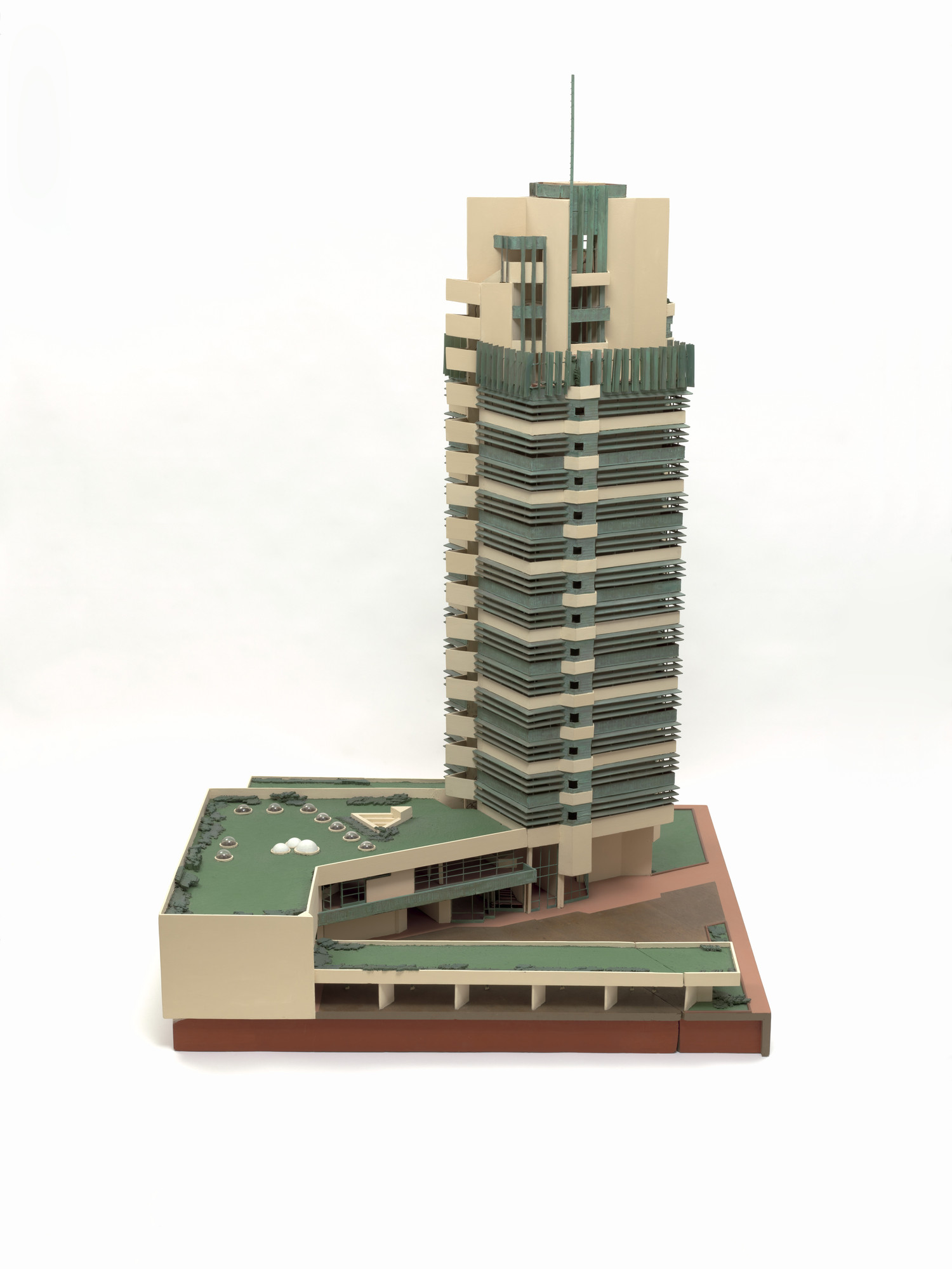 Frank Lloyd Wright. H.C. Price Company Tower, Bartlesville, Oklahoma (Model, c. 1952). 1952–1956