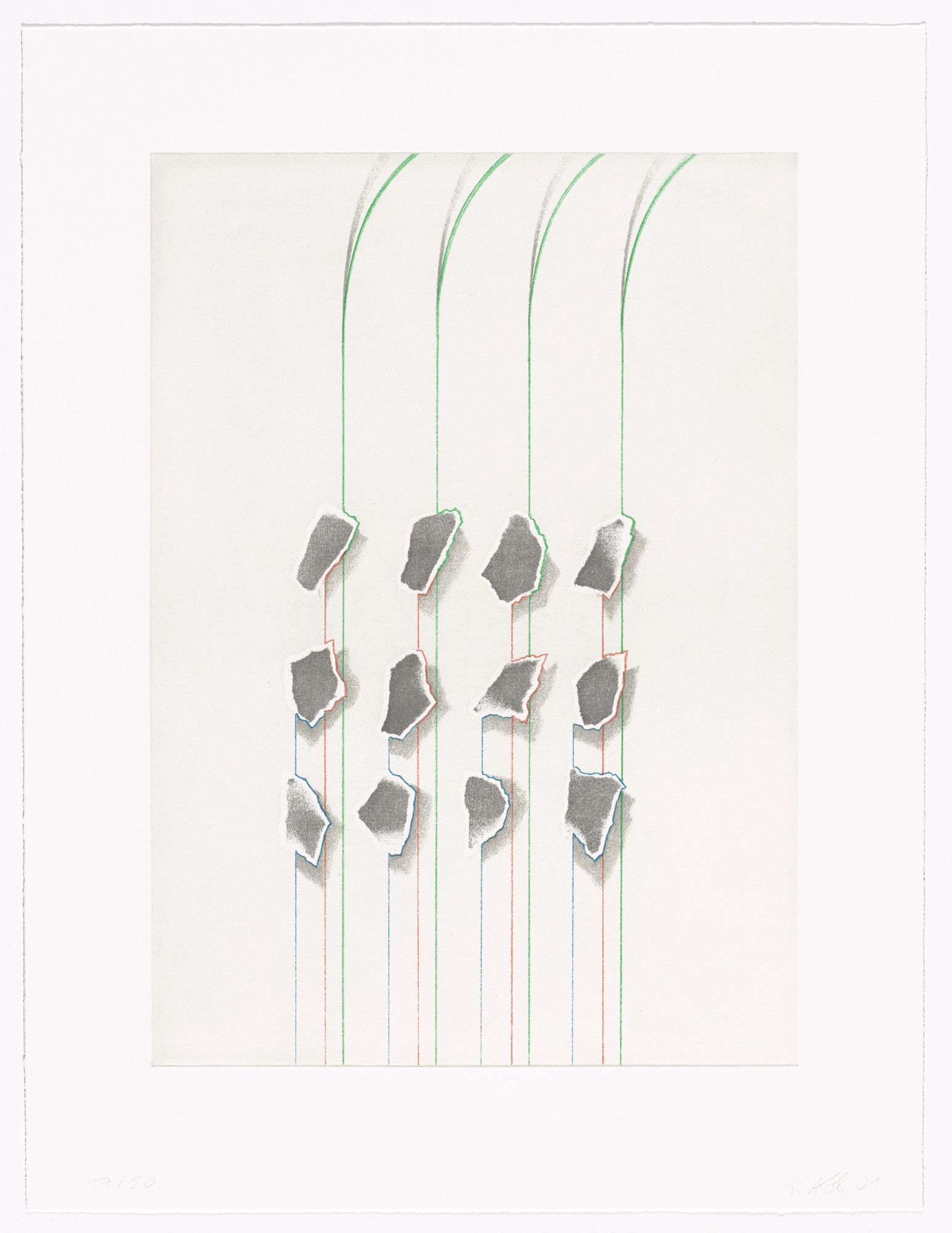 Tomma Abts. Untitled (12 bits). 2009
