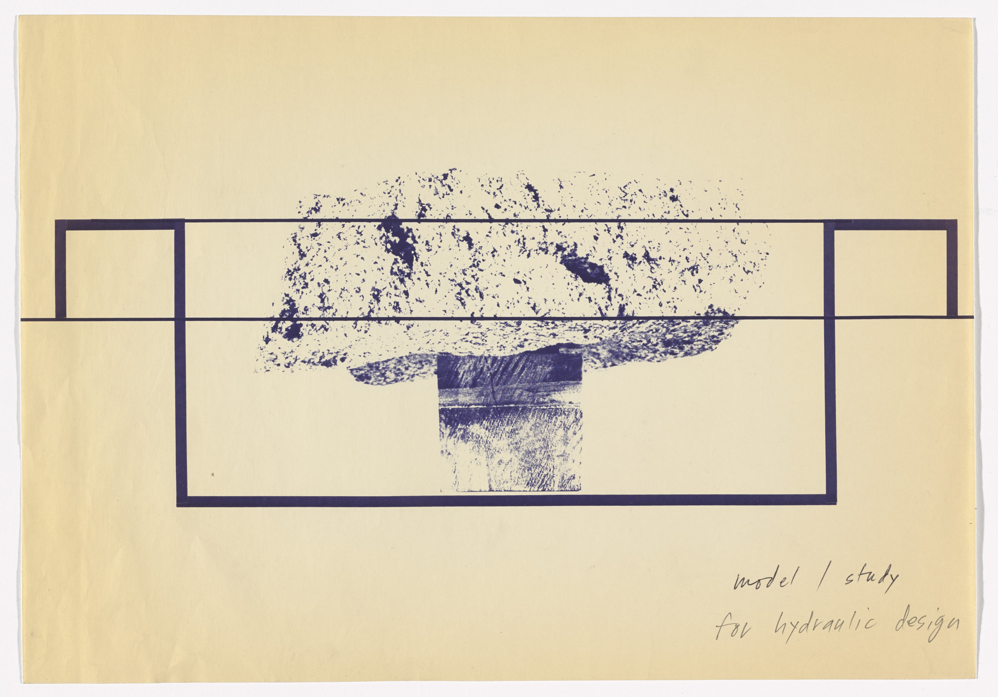 Michael Heizer. Preparatory material for Levitated Mass (1982). c. 1982