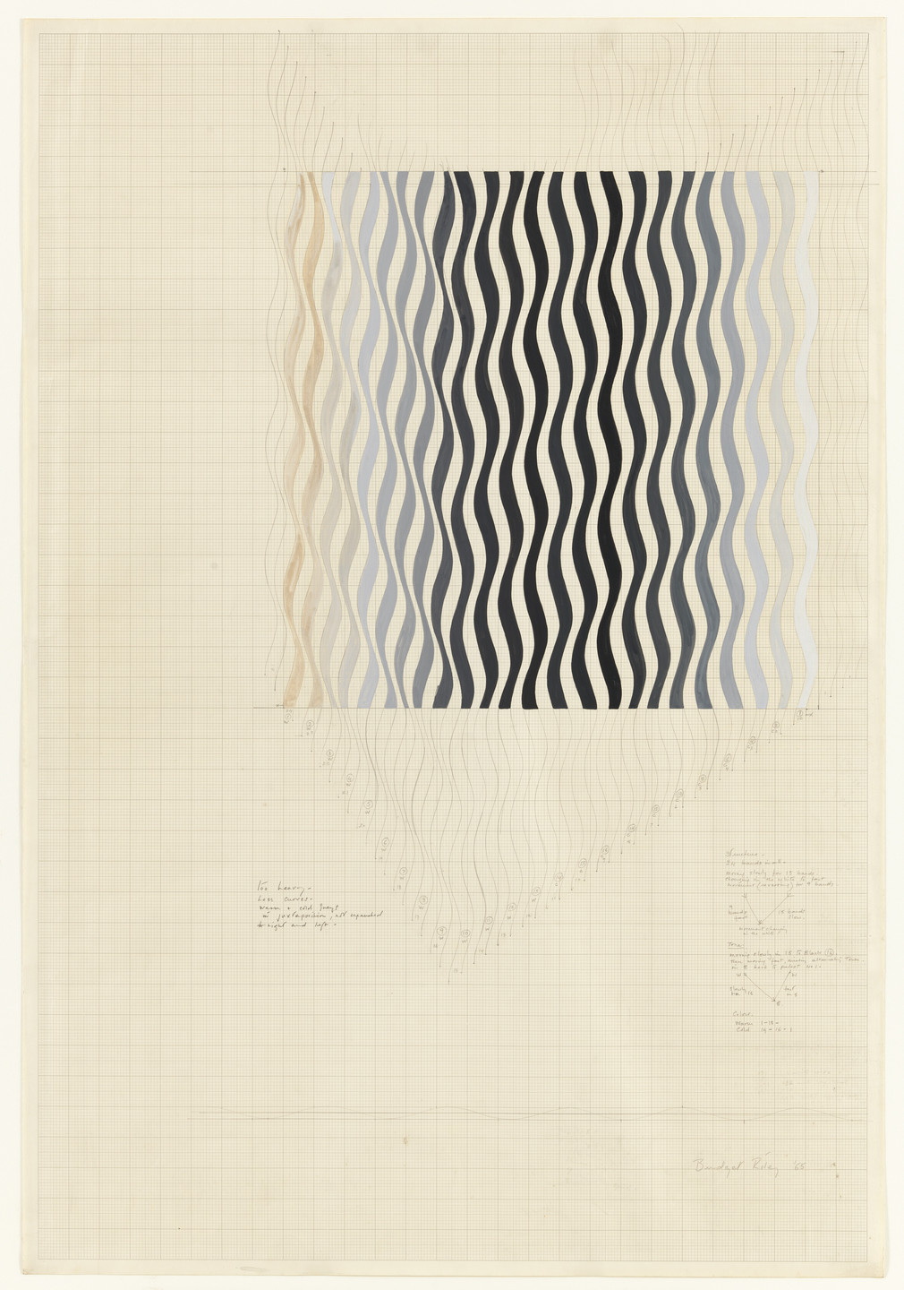 Bridget Riley. Study for Painting, (12011-DG). 1965