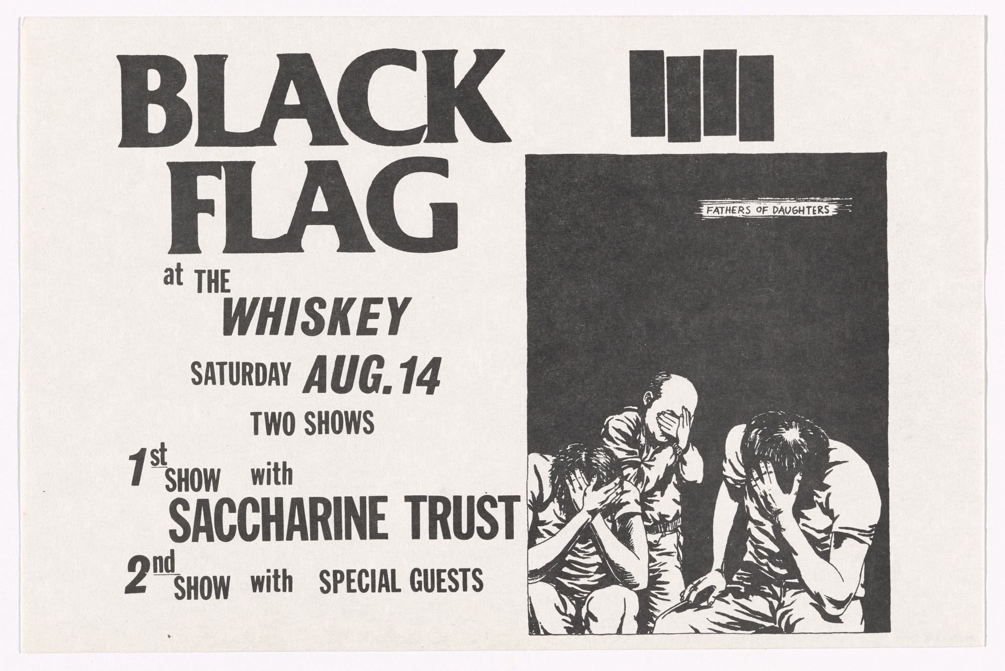 Raymond Pettibon. Black Flag at The Whisky. August 14, 1982