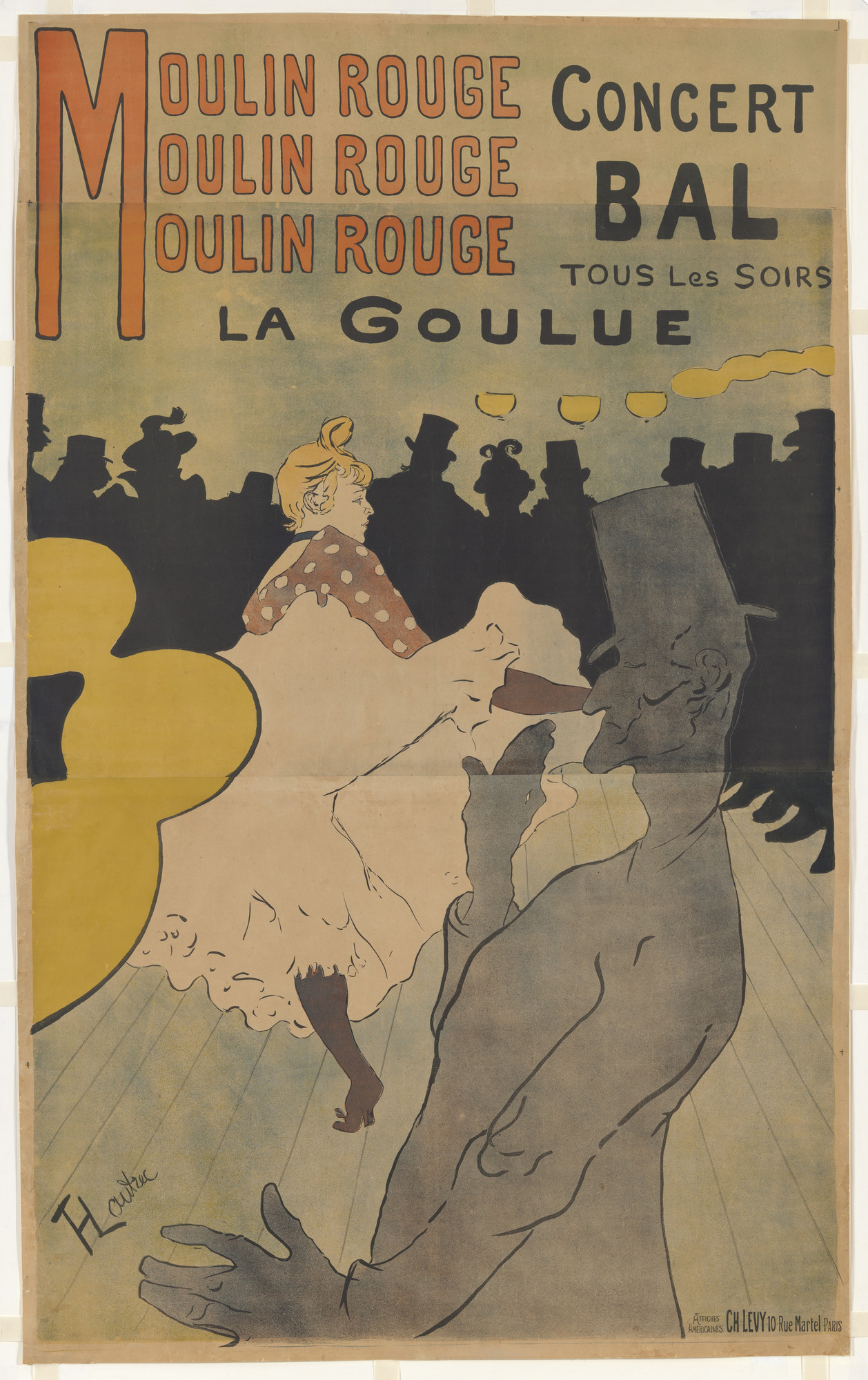 Henri de Toulouse-Lautrec. Moulin Rouge, La Goulue. 1891
