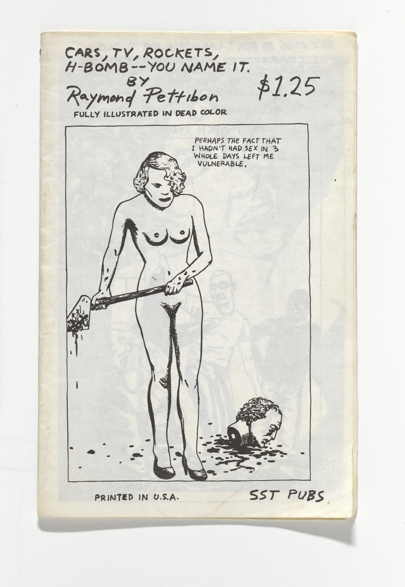 Raymond Pettibon. Cars, TV Rockets, H-Bomb -- You Name It. 1985