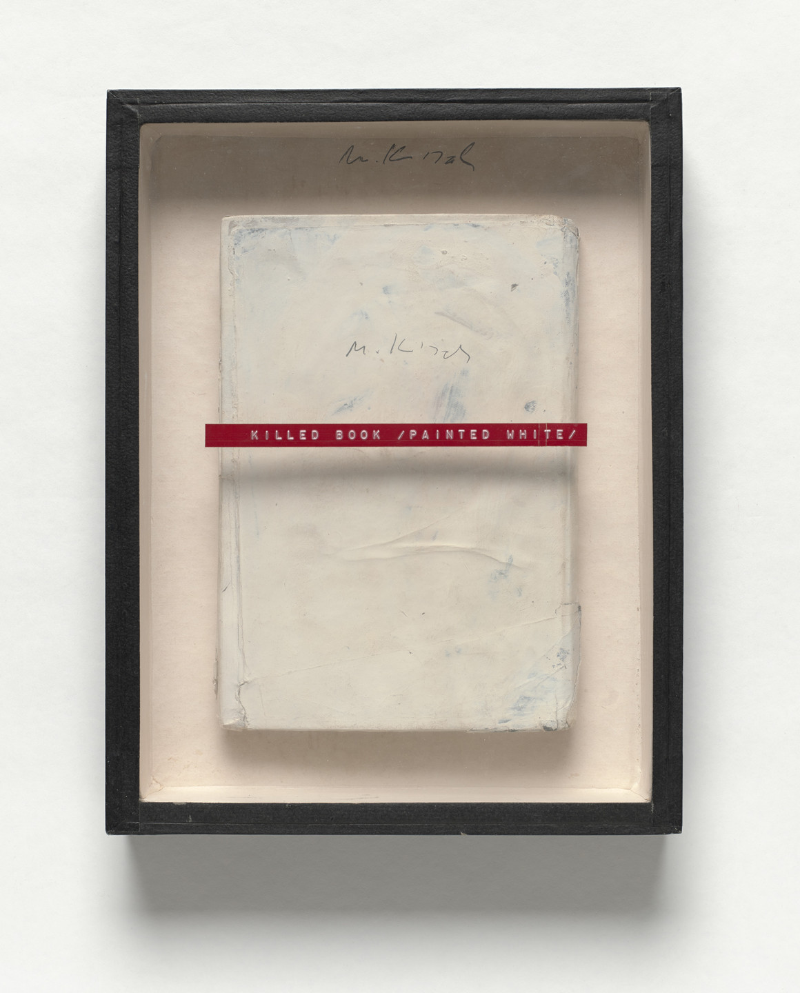 Milan Knížák. Killed Book / Painted White /. 1972