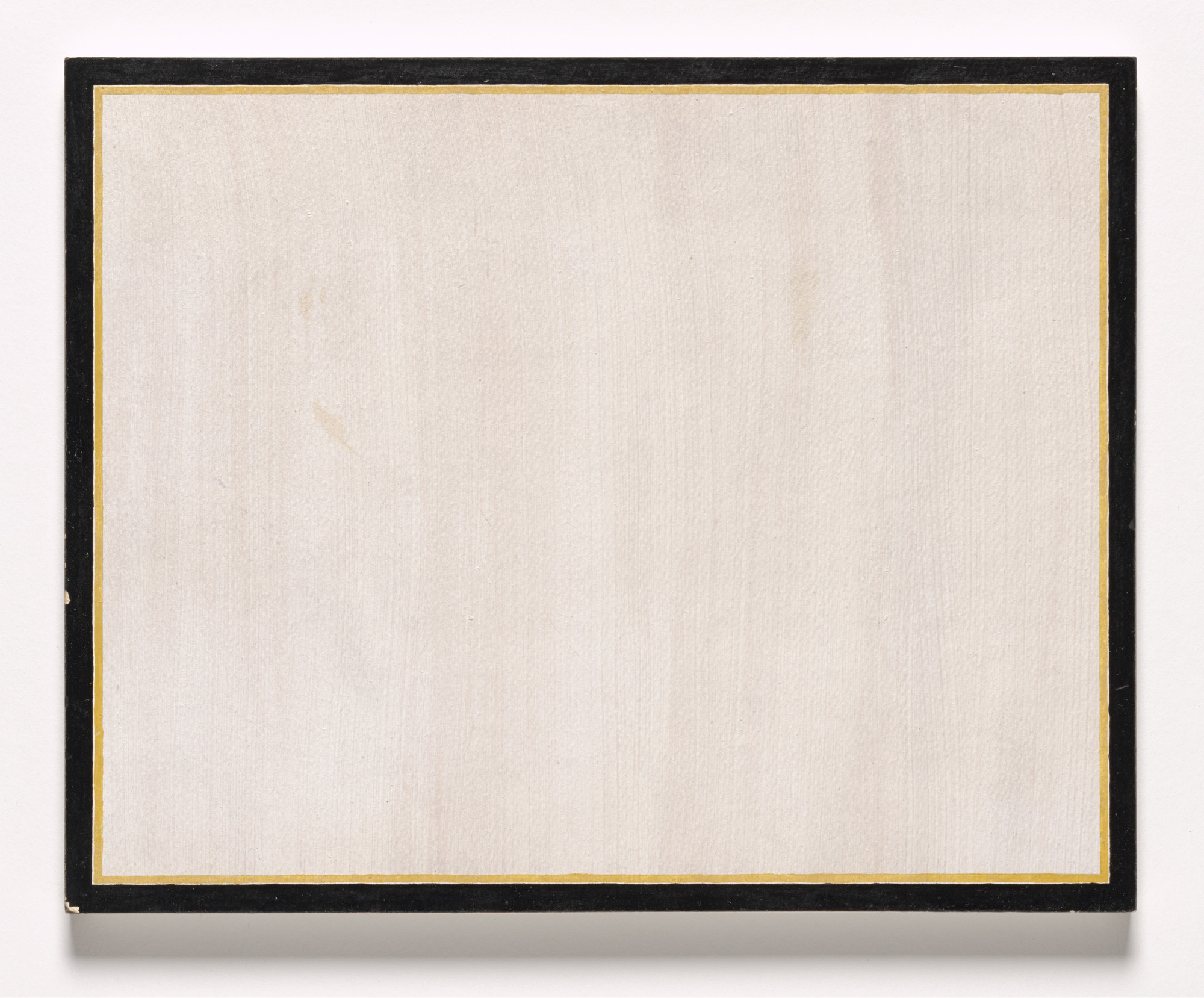 Jo Baer. Replica: White Horizontal (yellow line). 1965