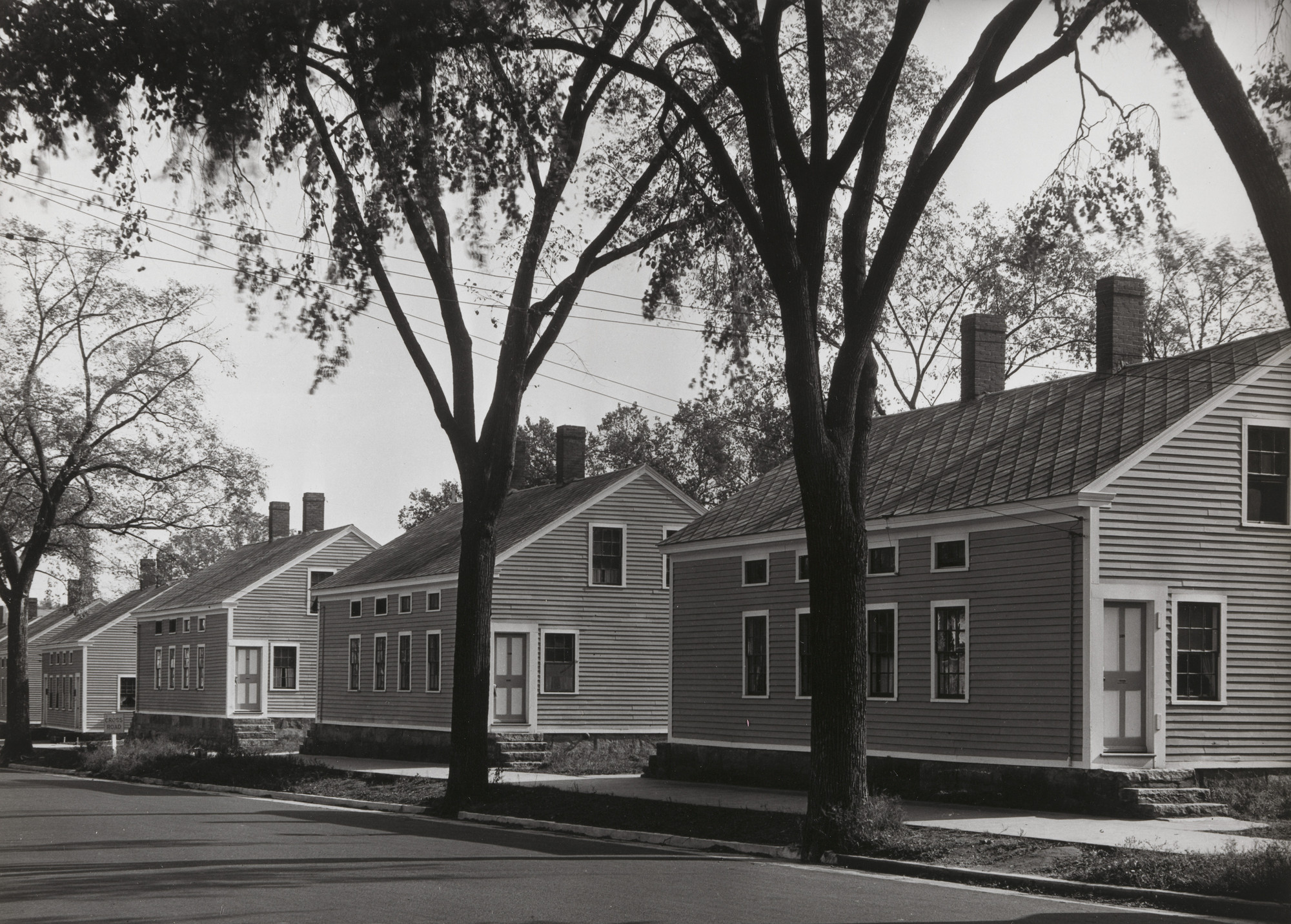 Walker Evans. Millworkers' Houses in Willimantic, Connecticut. 1931