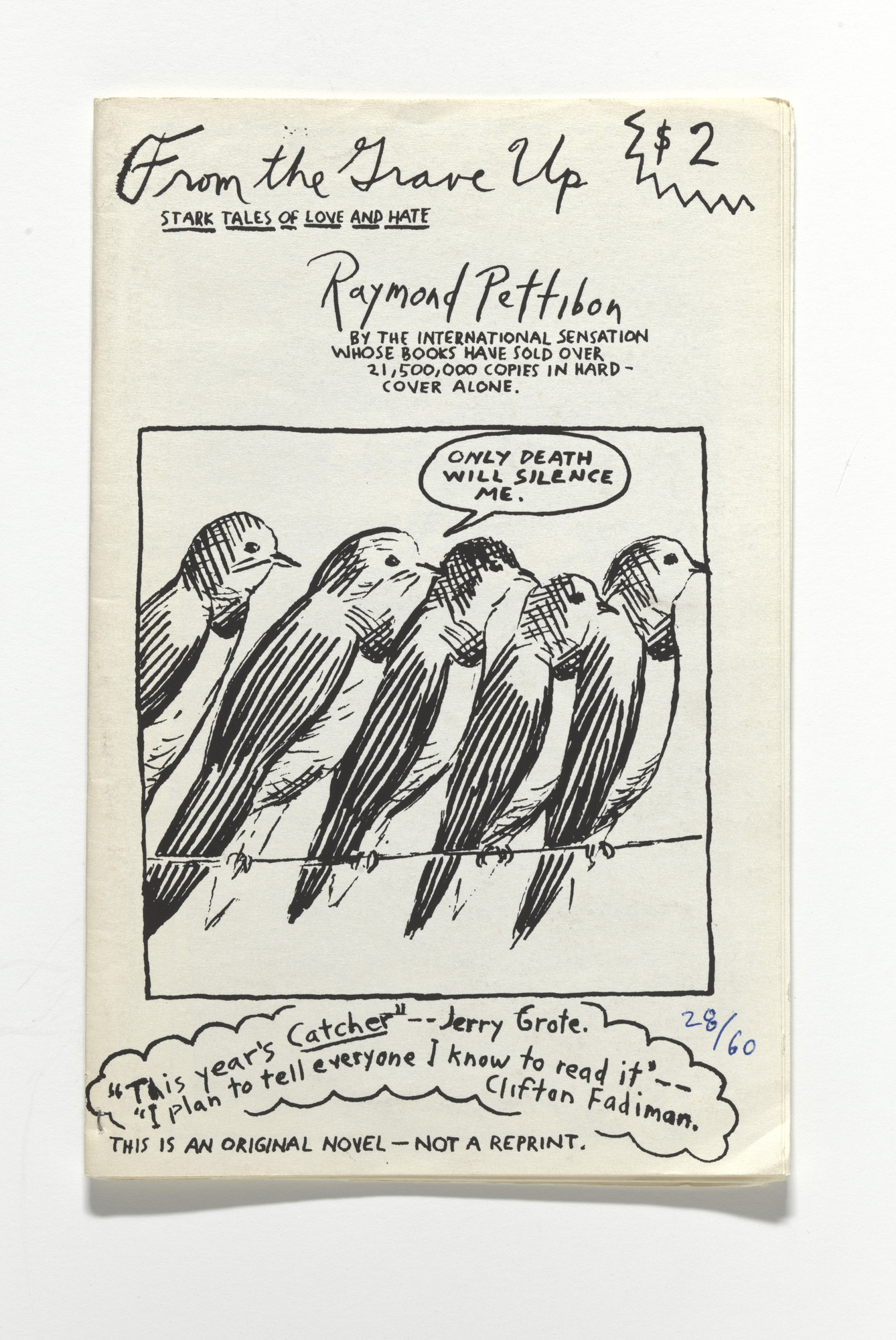 Raymond Pettibon. From the Grave Up. 1989