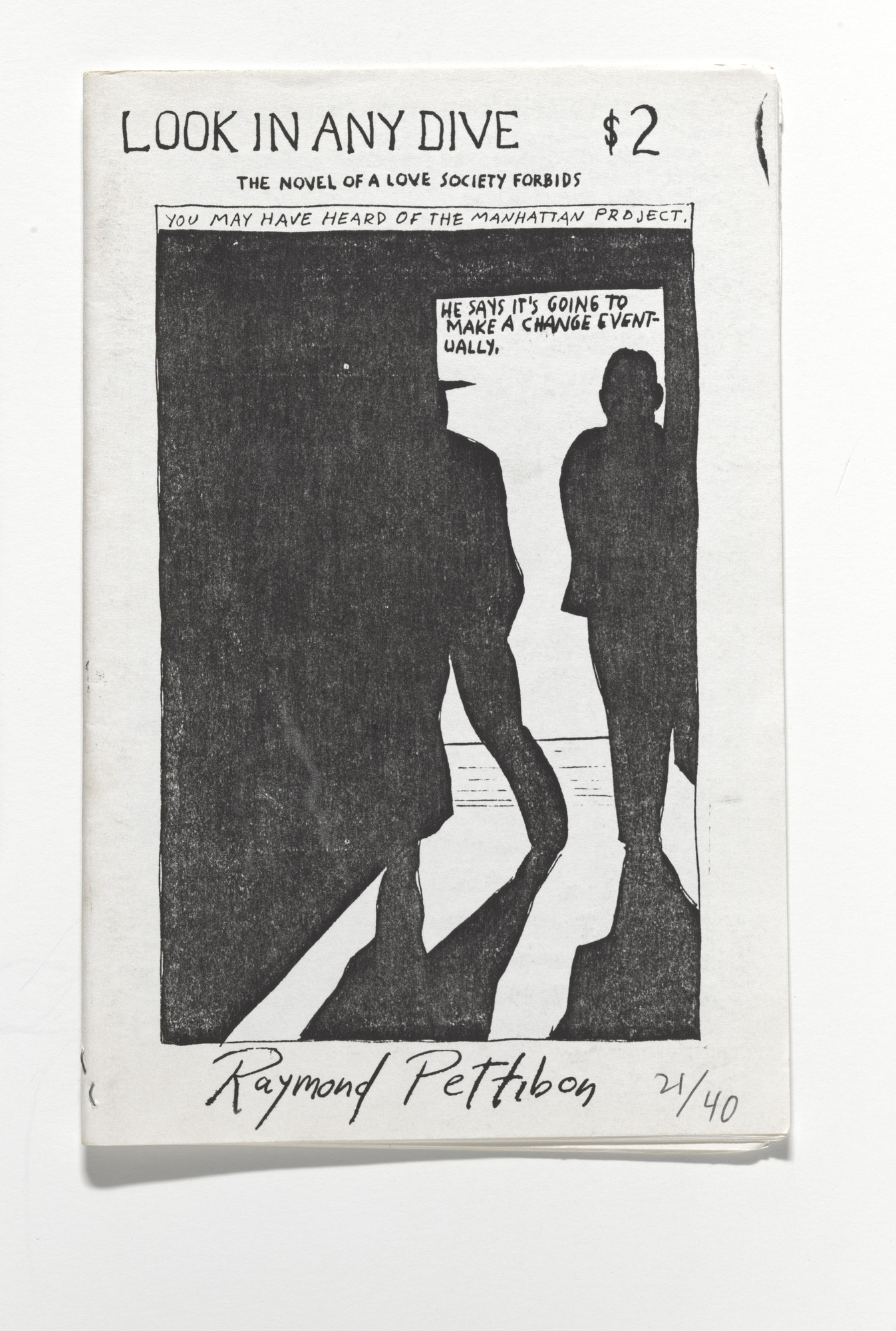 Raymond Pettibon. Look in Any Dive. The Novel of a Love Society Forbids. 1990