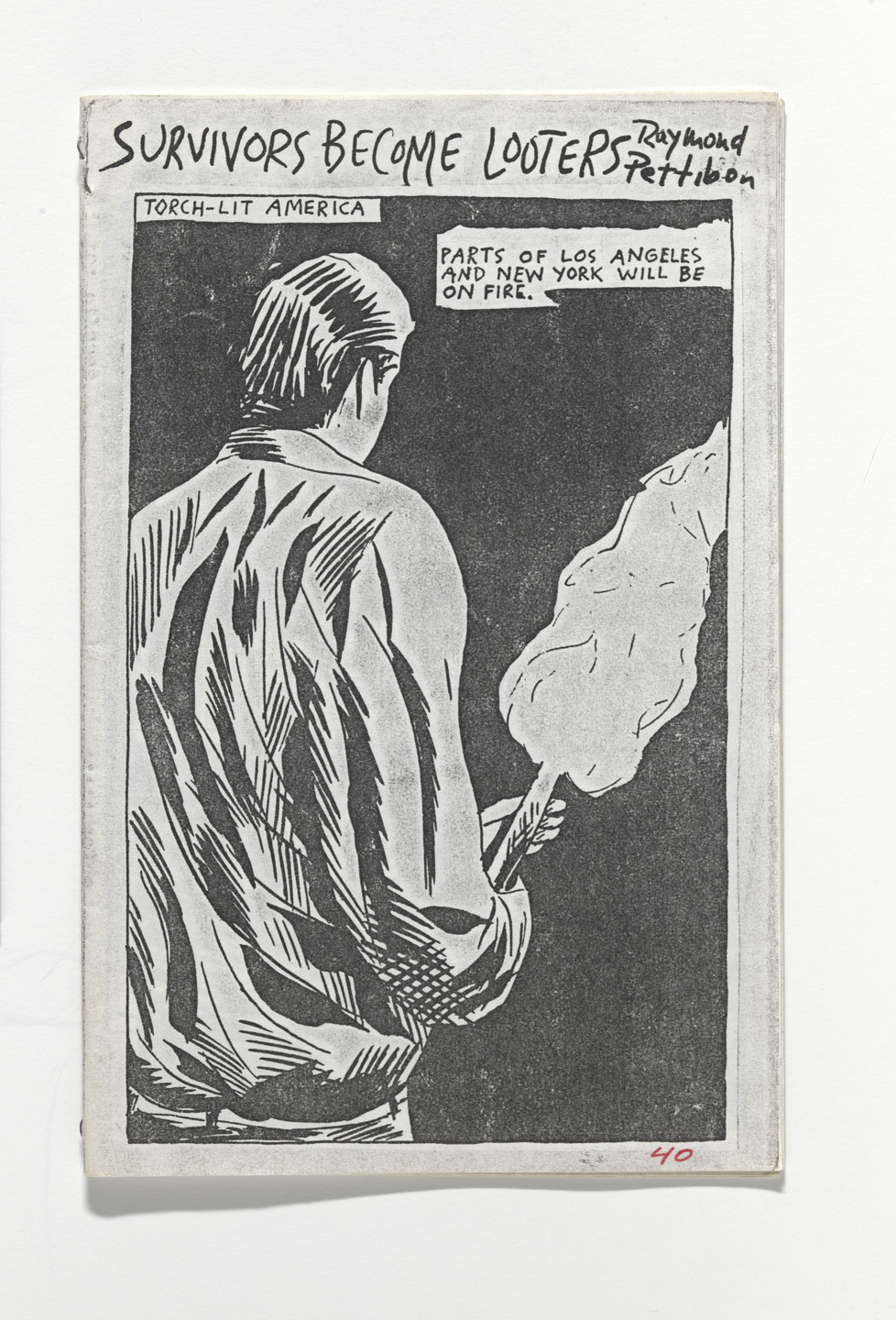 Raymond Pettibon, Nelson Tarpenny. Survivors Become Looters. 1986