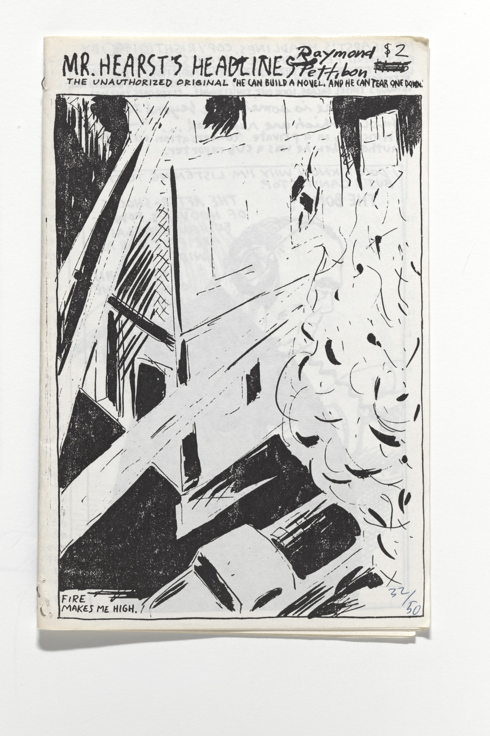 Raymond Pettibon. Mr. Hearst's Headlines. He Can Build a Novel and He Can Tear One Down.. 1990