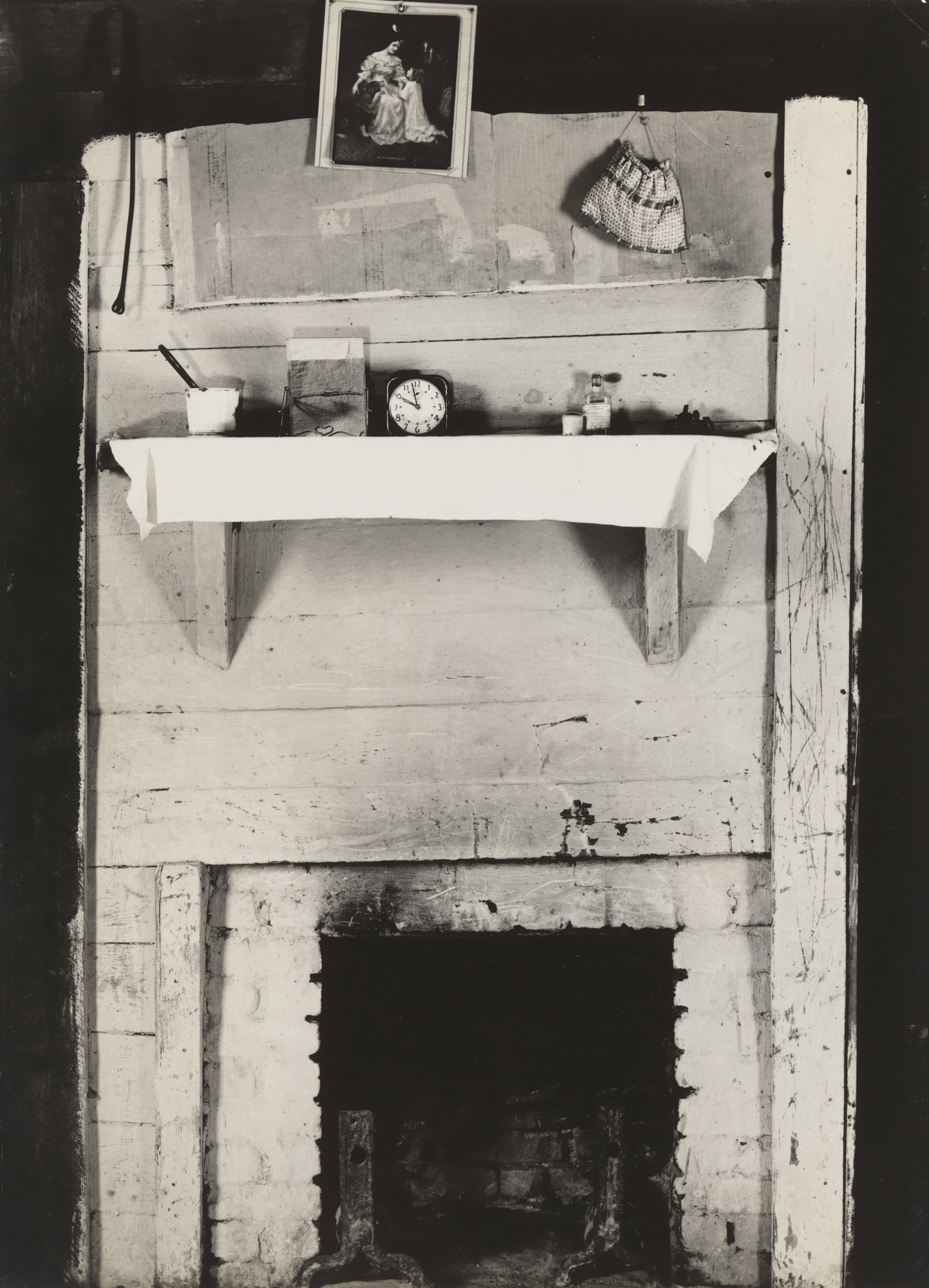 Walker Evans. Fireplace and Objects in Floyd Burrough's Bedroom. 1936