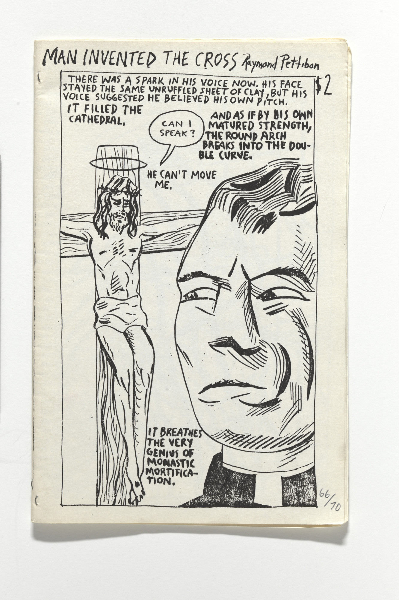 Raymond Pettibon, Nelson Tarpenny. Man Invented the Cross. 1989