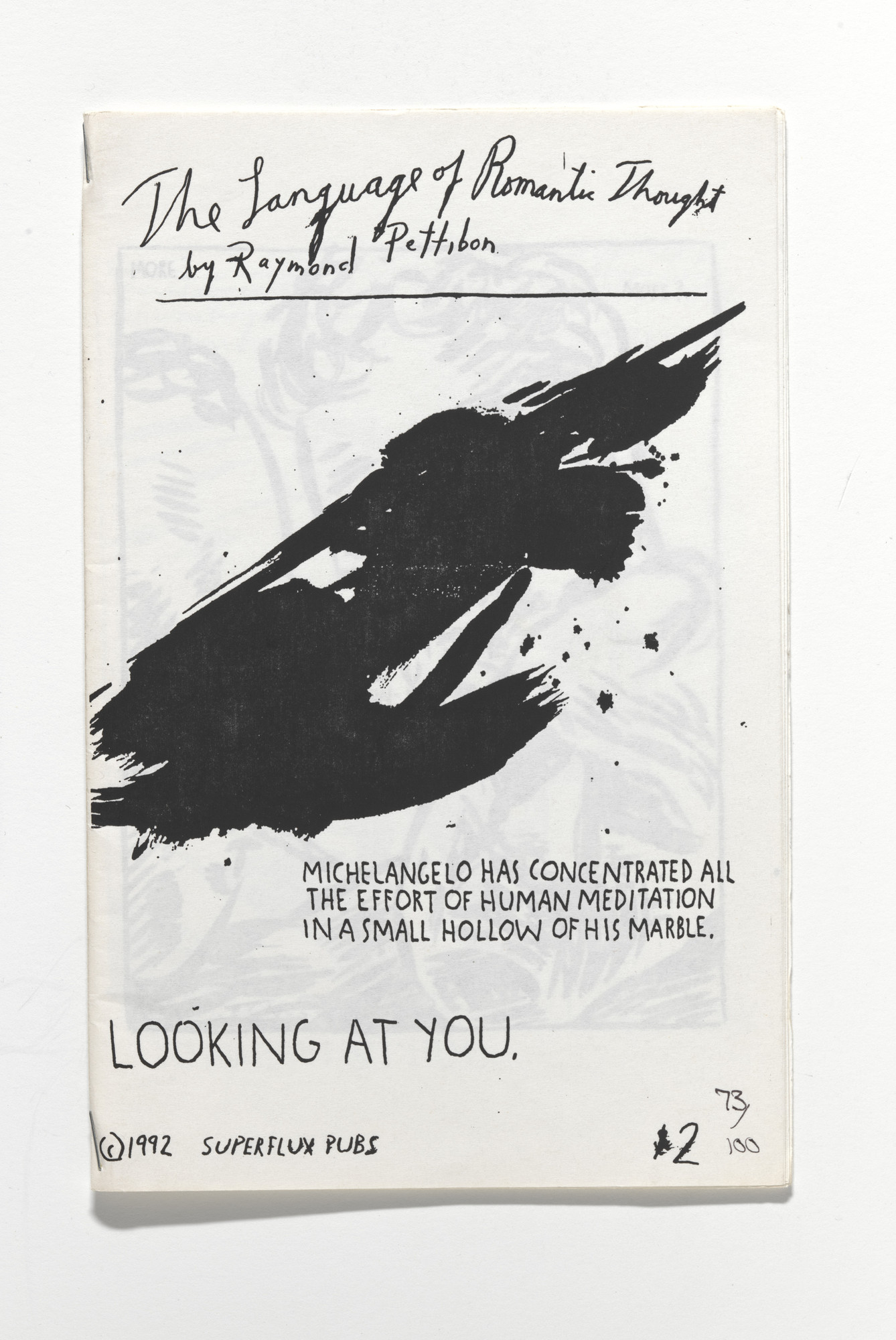 Raymond Pettibon. The Language of Romantic Thought. 1992