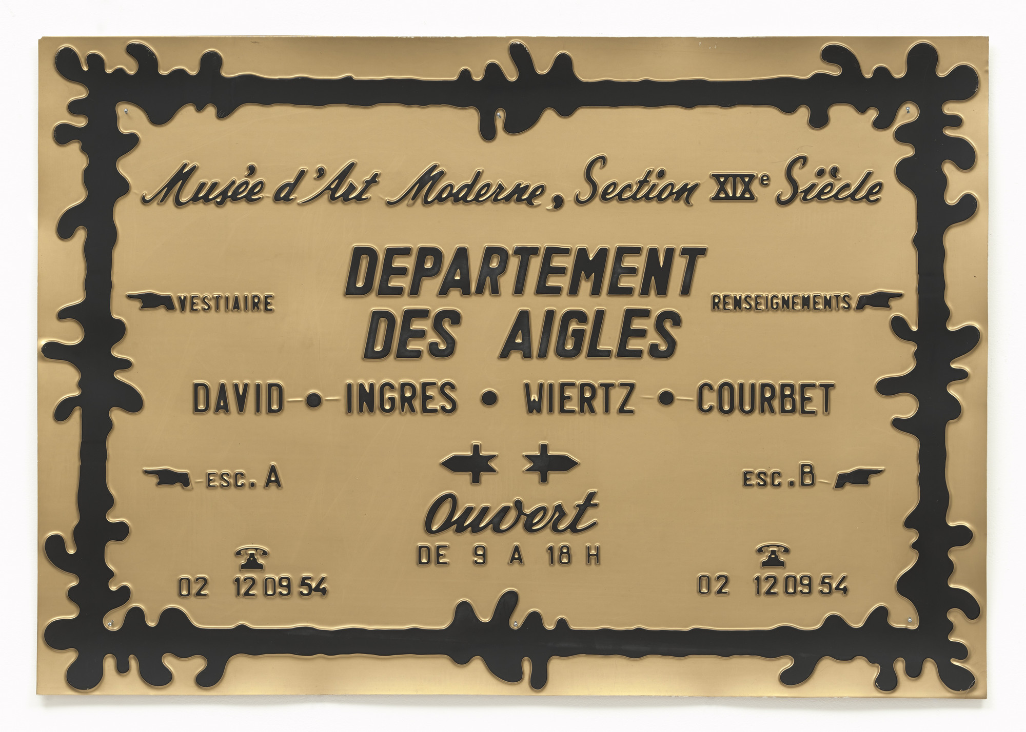 Marcel Broodthaers. Department of Eagles (David - Ingres - Wiertz - Courbet) (Département des Aigles [David - Ingres - Wiertz - Courbet]). 1968