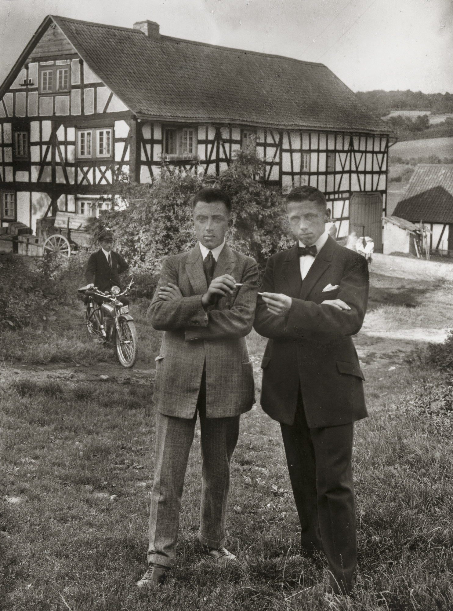 August Sander. Young Farmers on Sunday. c. 1926