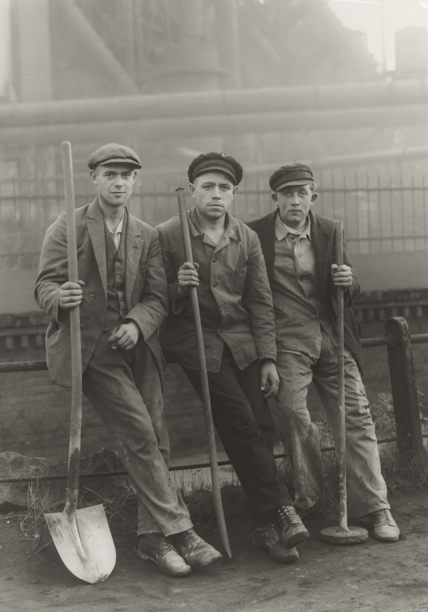 August Sander. Workmen in the Ruhr. c. 1928