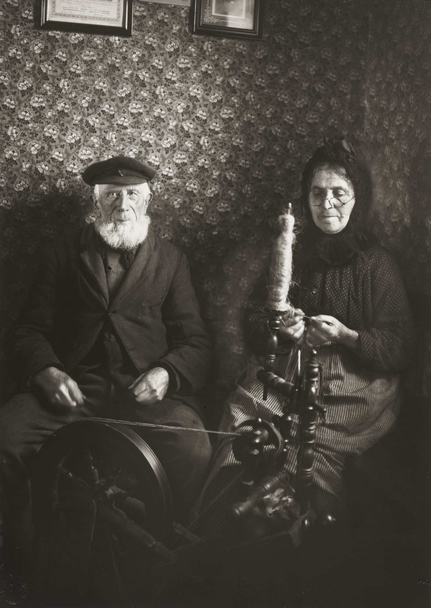 August Sander. Farm Couple Spinning. 1925-30