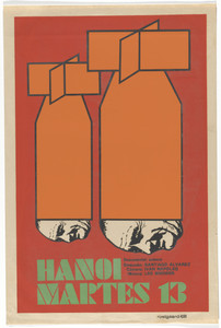 Hanoi Martes 13 (Hanoi, March 13) (Poster for the documentary film directed by Santiago Álvarez Román)