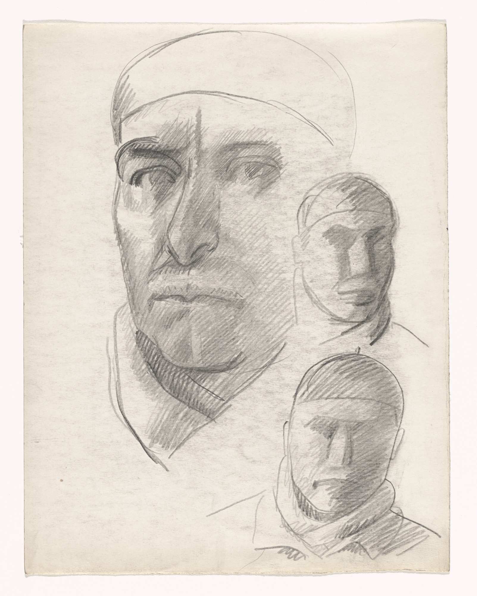 Julio González. Three Studies of Self-Portrait. (1938-40)