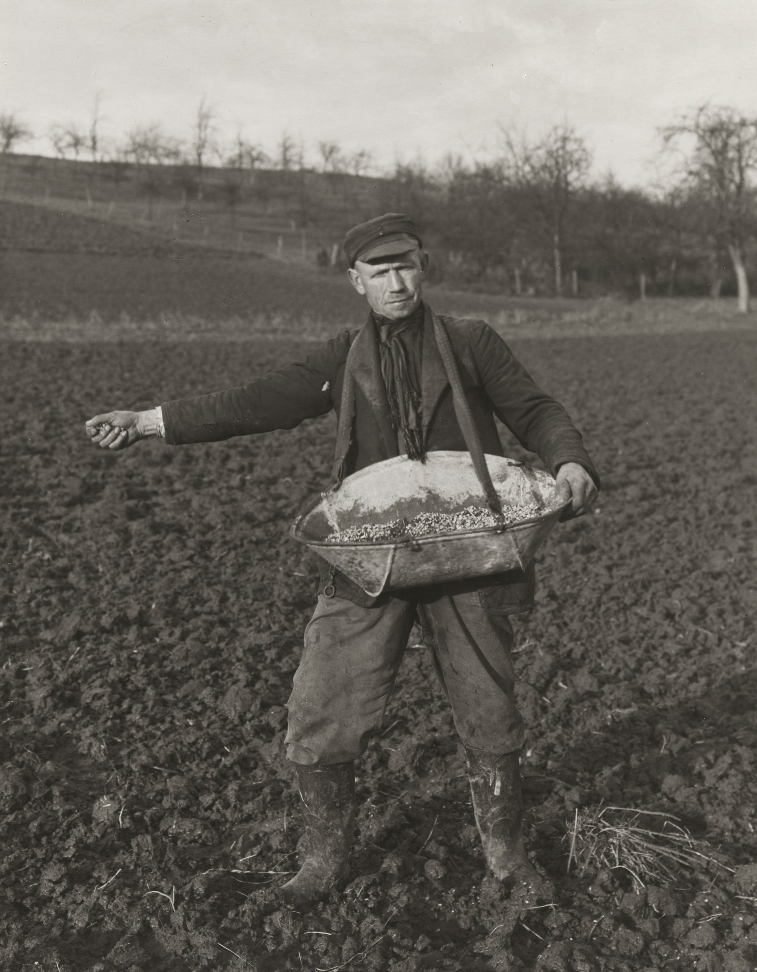August Sander. Farmer Sowing. 1952