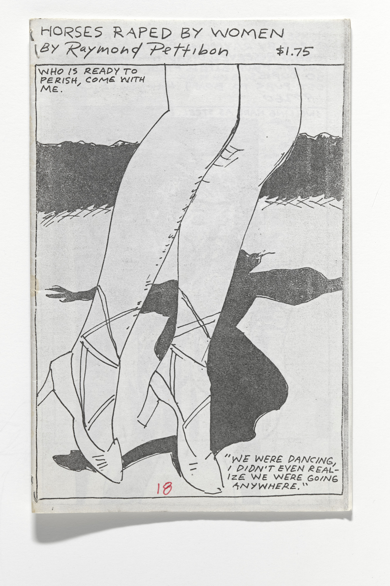 Raymond Pettibon. Horses Raped by Women. 1986