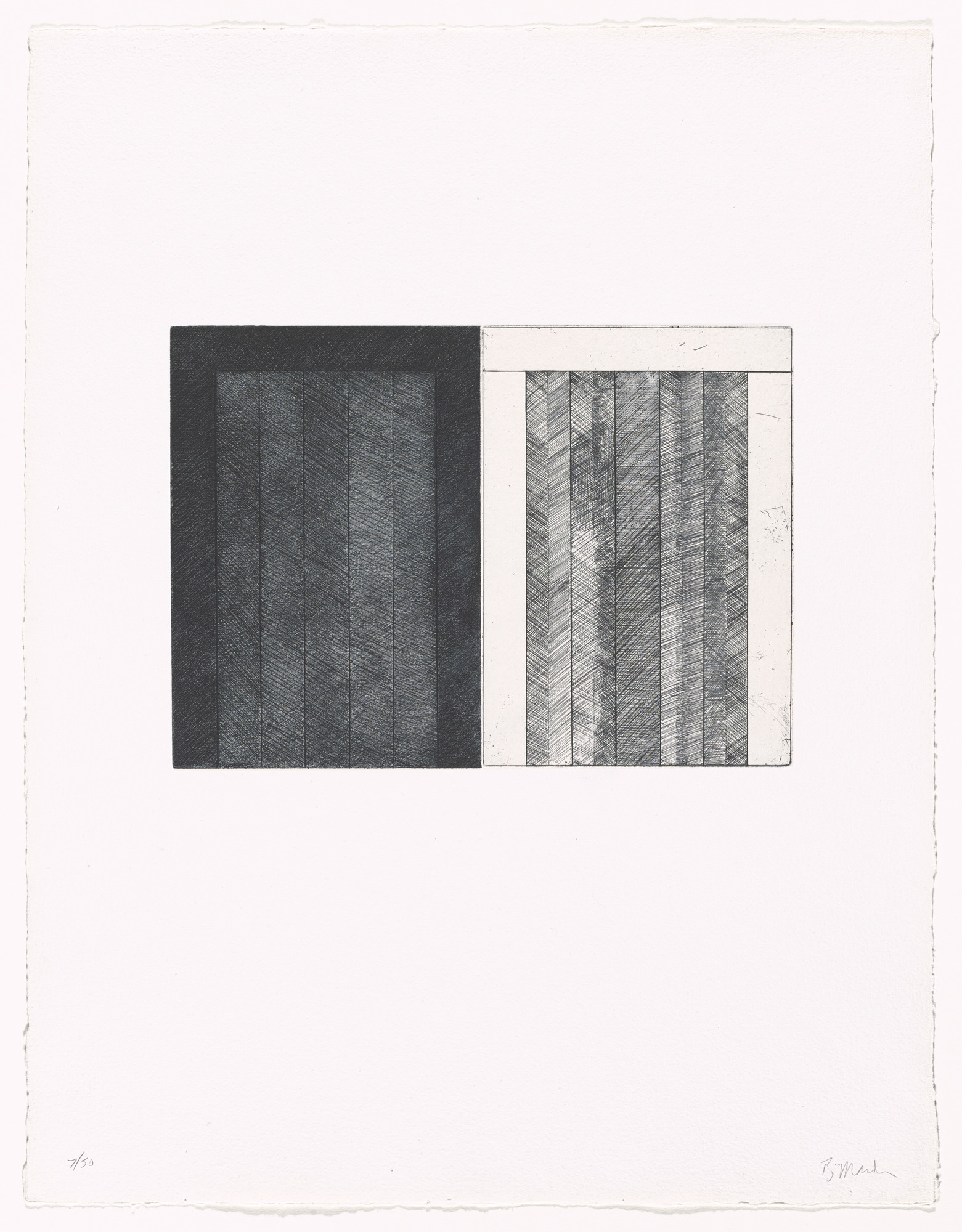 Brice Marden. Untitled from 12 Views for Caroline Tatyana. 1977–79, published 1989