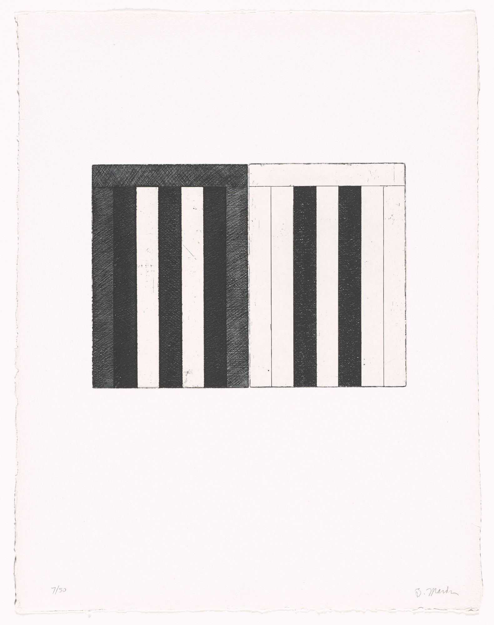 Brice Marden, Doris Simmelink. Untitled from 12 Views for Caroline Tatyana. 1977–79, published 1989