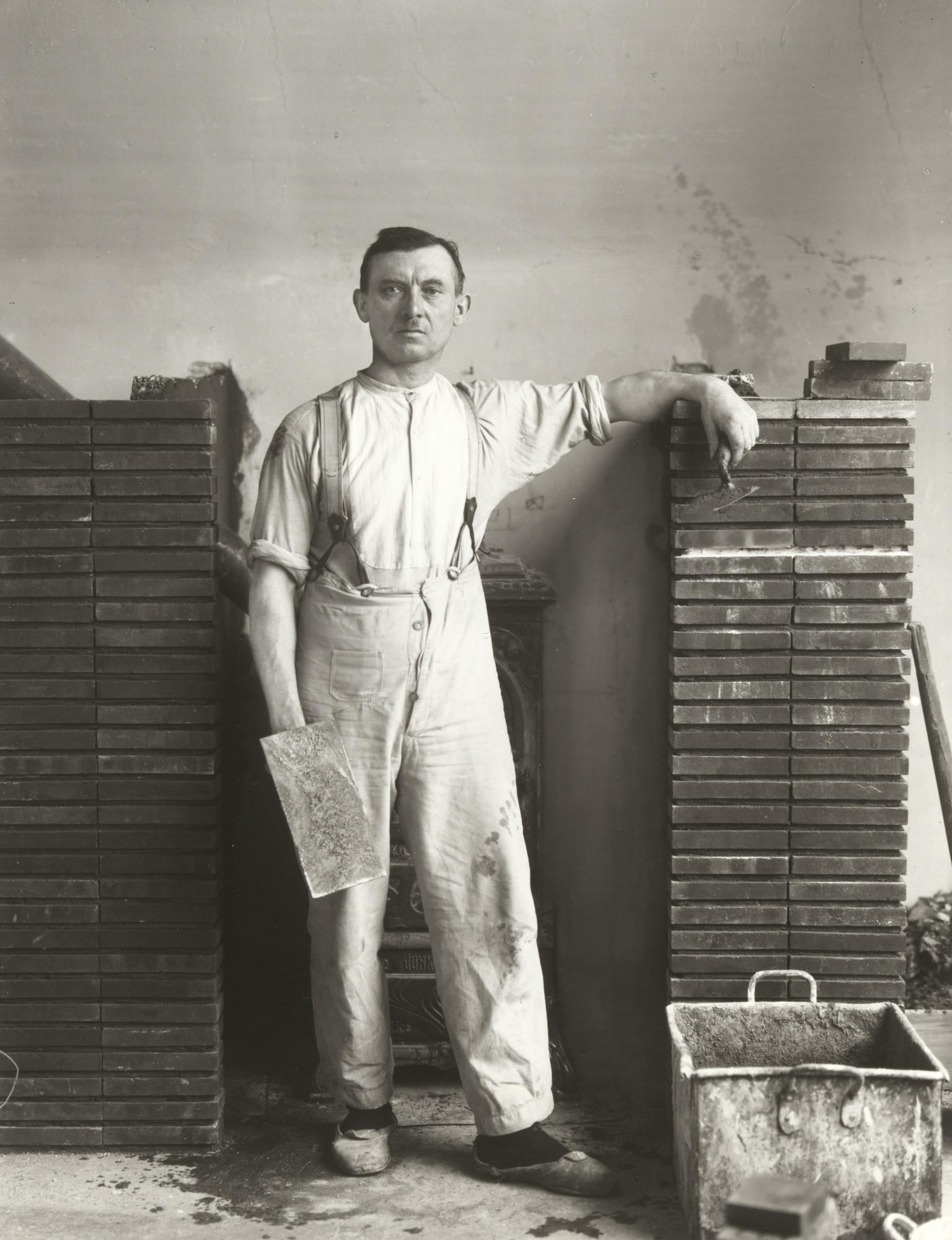 August Sander. Master Mason. 1926 | MoMA