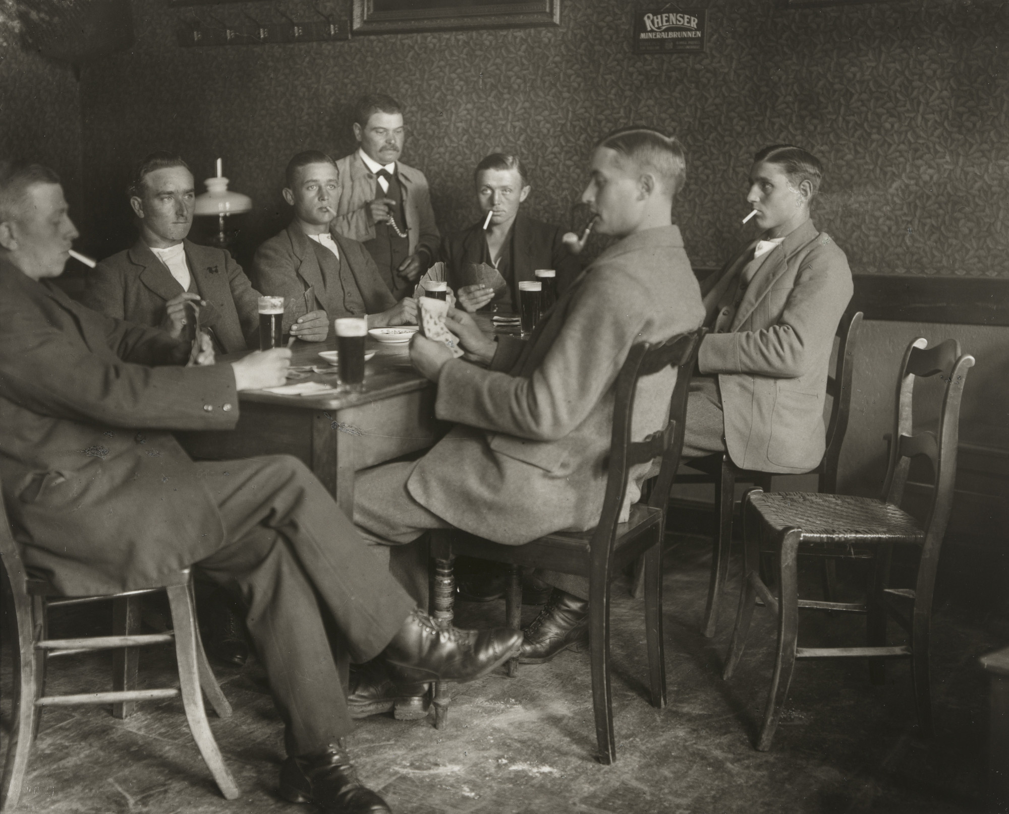 August Sander. Farmers Playing Cards. c. 1920