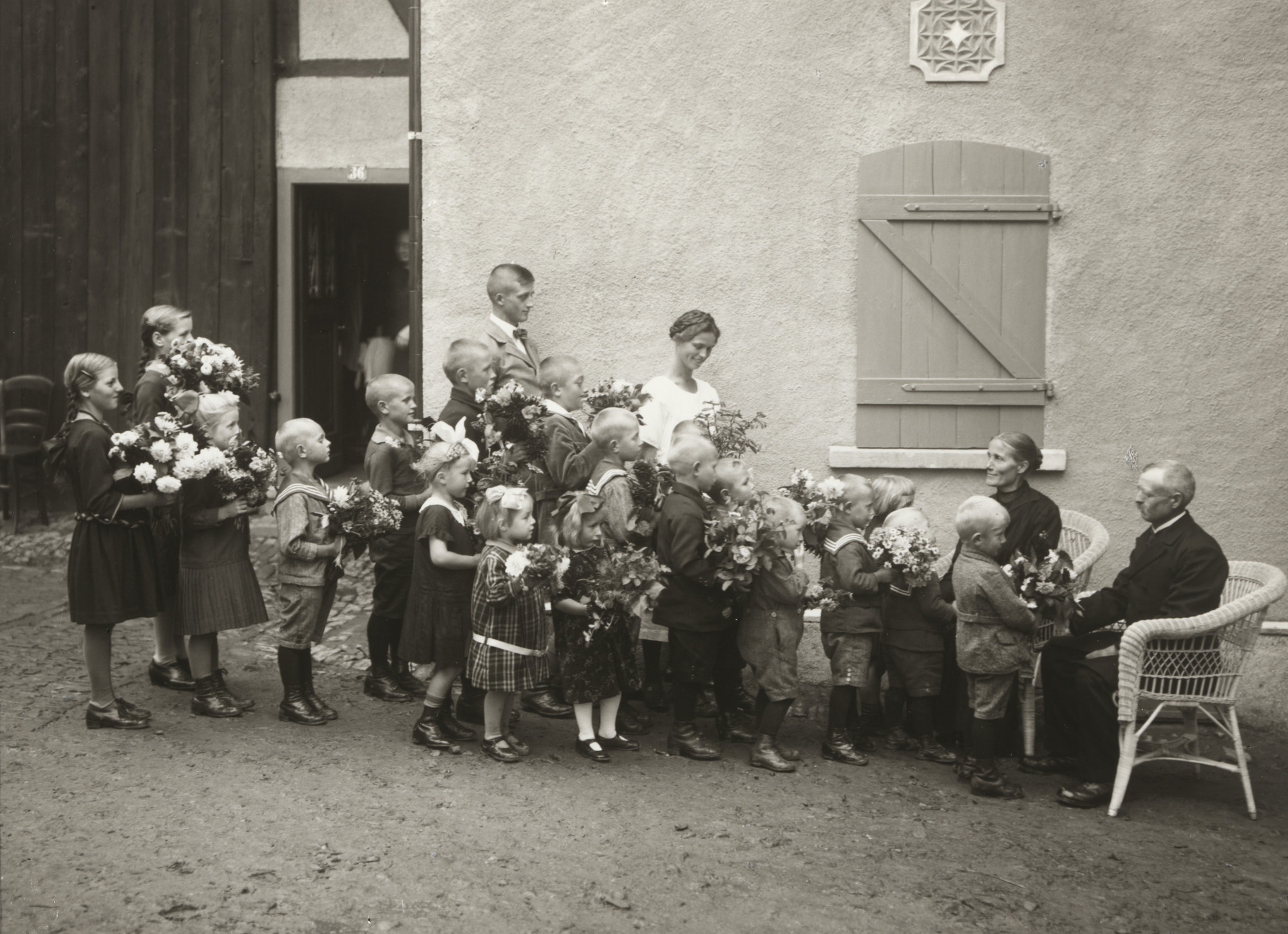 August Sander. Silver-Wedding Congratulations. 1932
