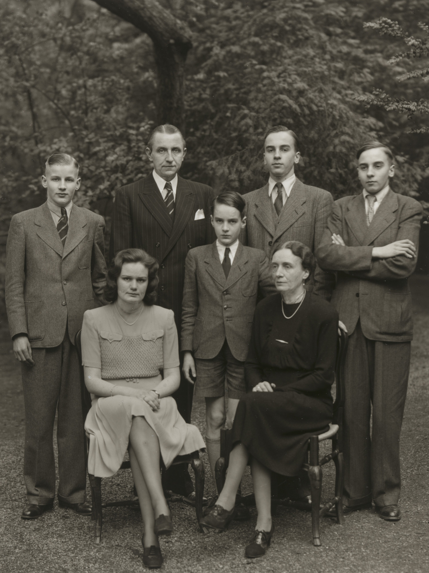 August Sander. Family of a State Premier[Wilhelm Boden]. c. 1950