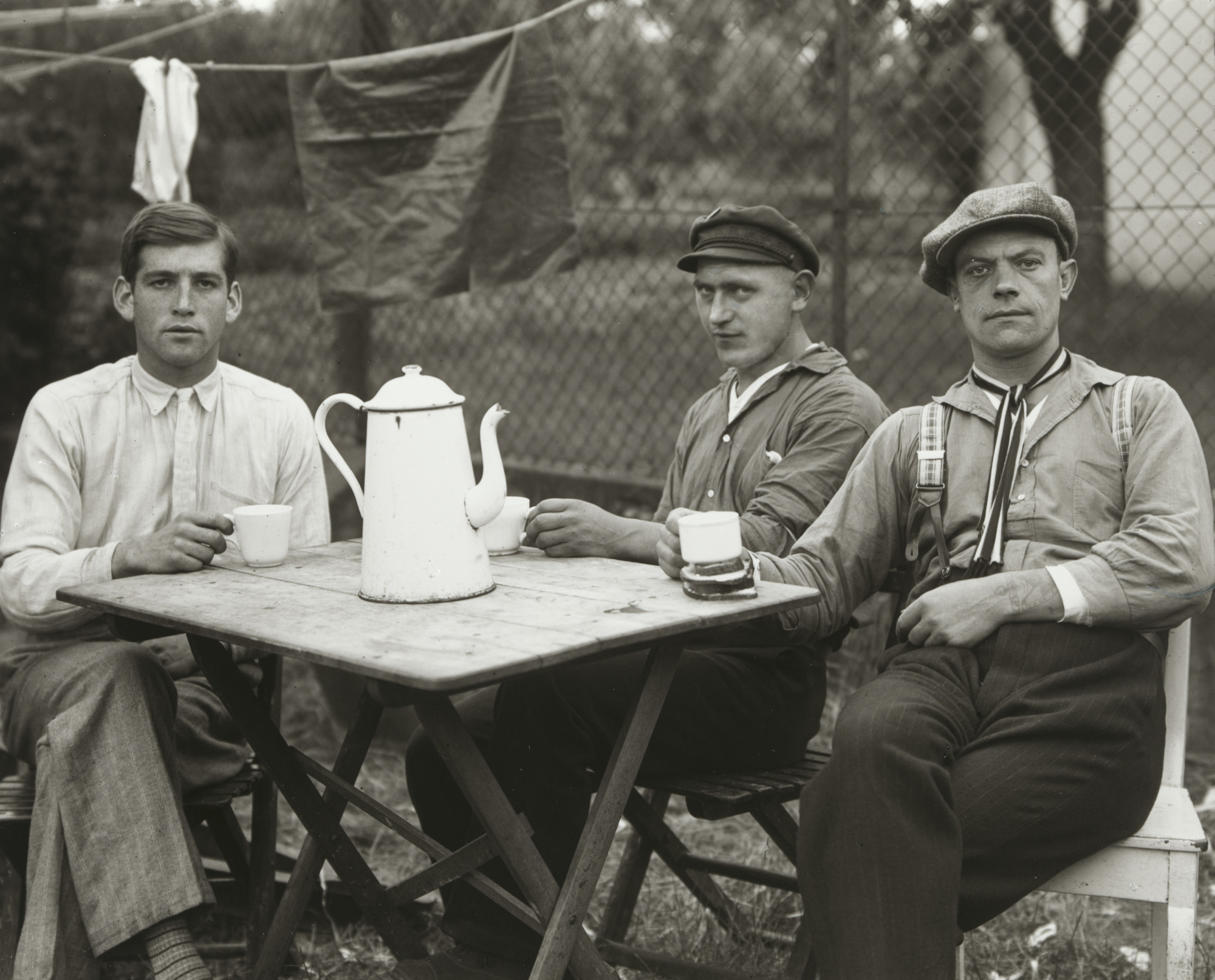 August Sander. Fairground Workers. 1926-32
