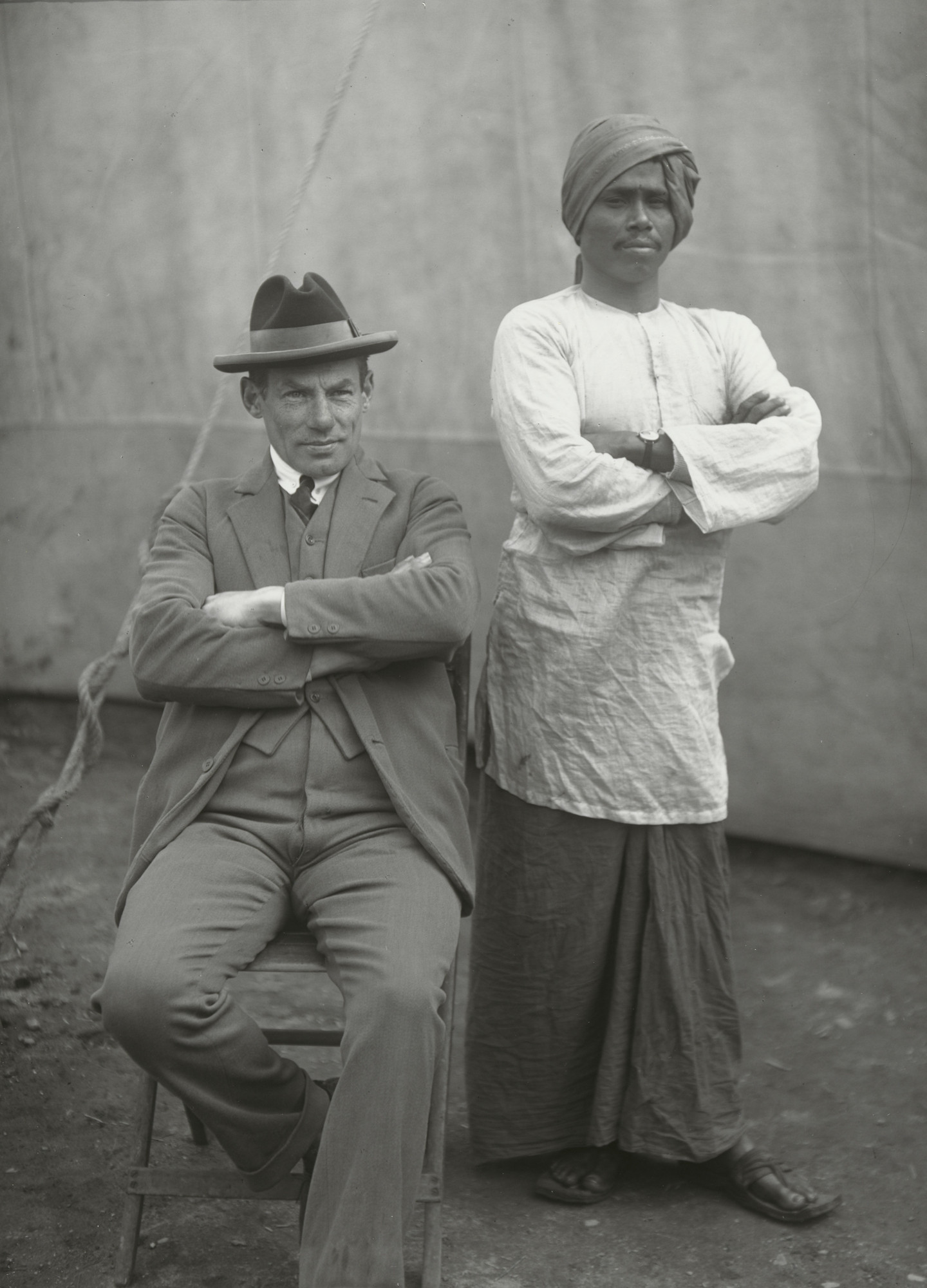 August Sander. Indian with Manager. 1930