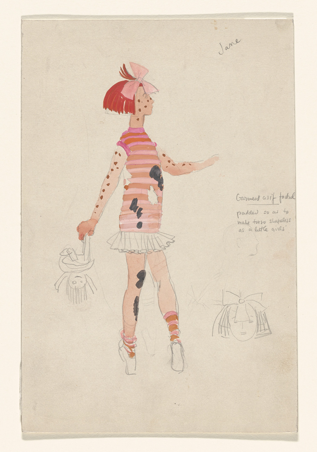 Paul Cadmus. Jane. Costume design for the ballet Filling Station. 1937