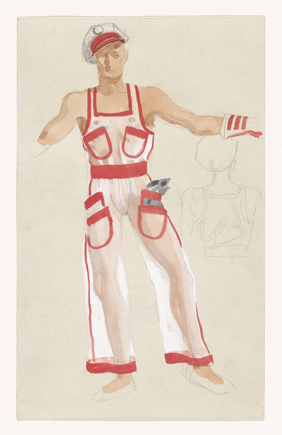 Paul Cadmus. Mac, the Filling Station Attendant. Costume design for the ballet Filling Station. 1937