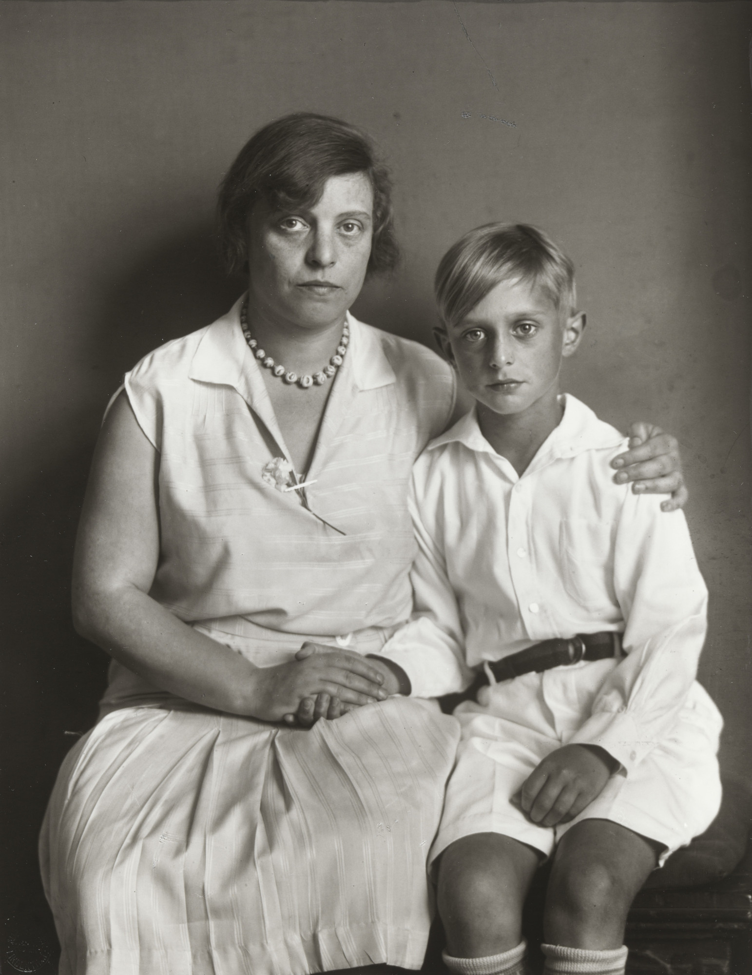 August Sander. Mother and Son [Lou Straus-Ernst with son Jimmy]. 1928