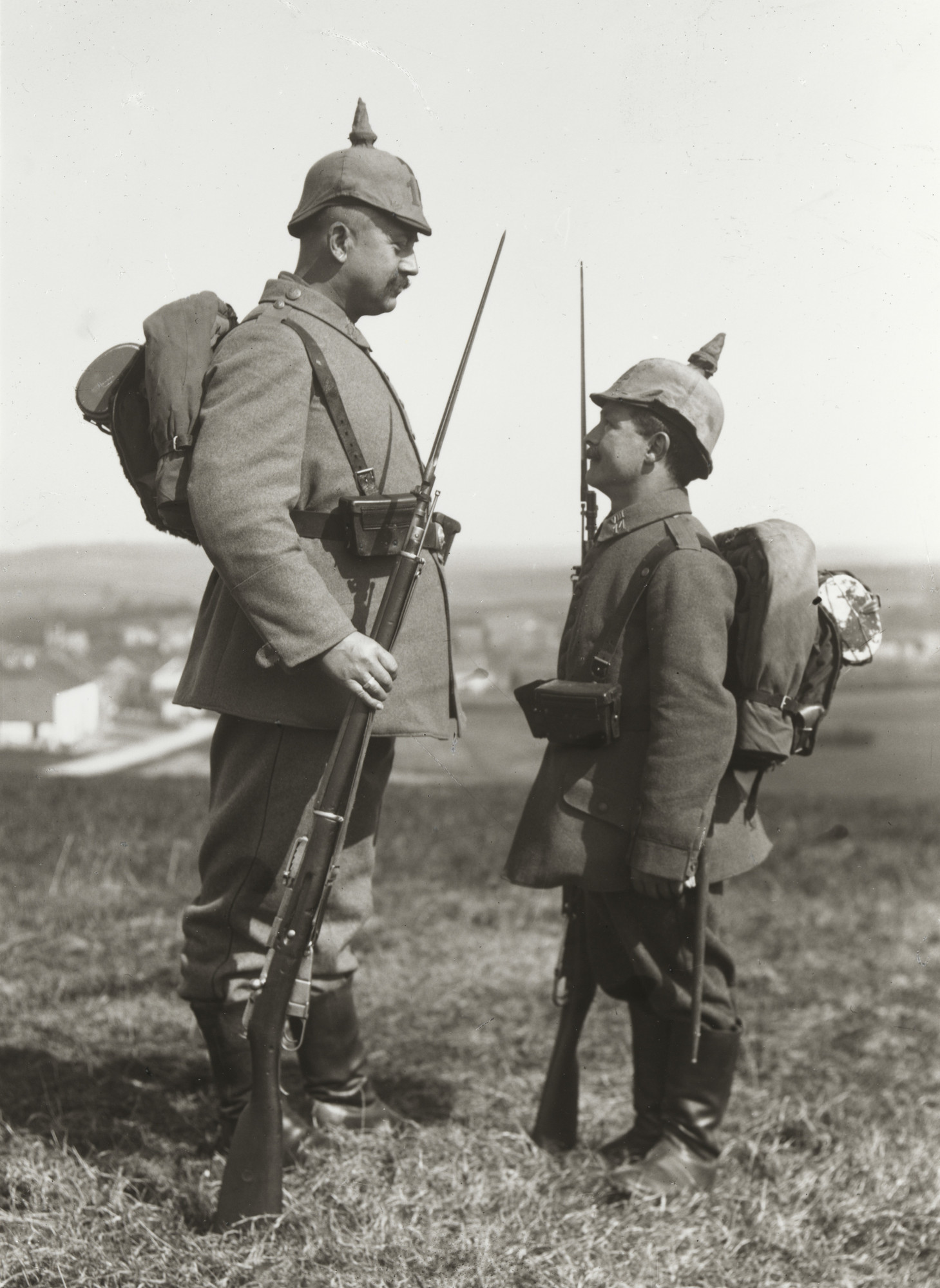 August Sander. Military Height Differences. 1915