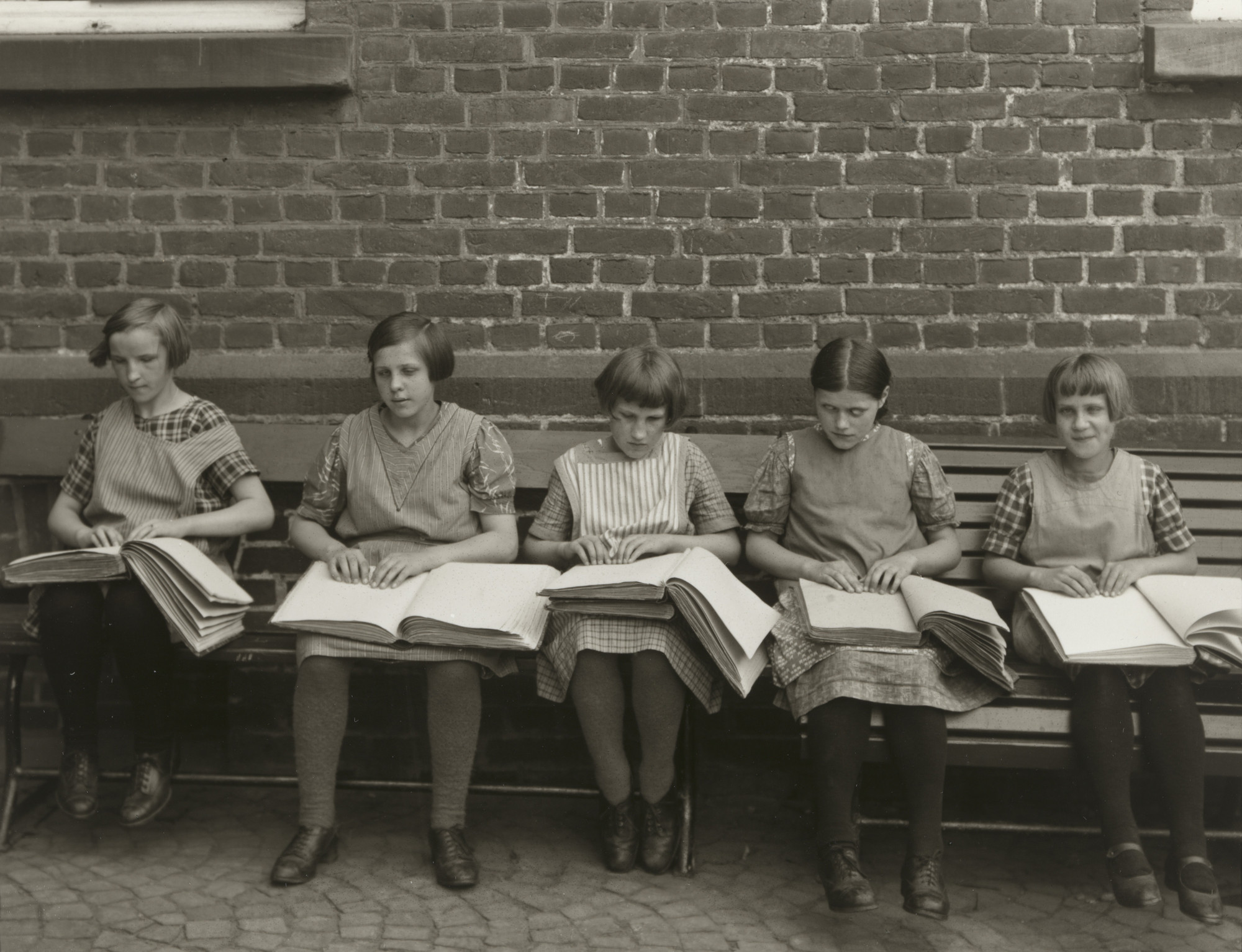 August Sander. Blind Children at their Lessons. c. 1930