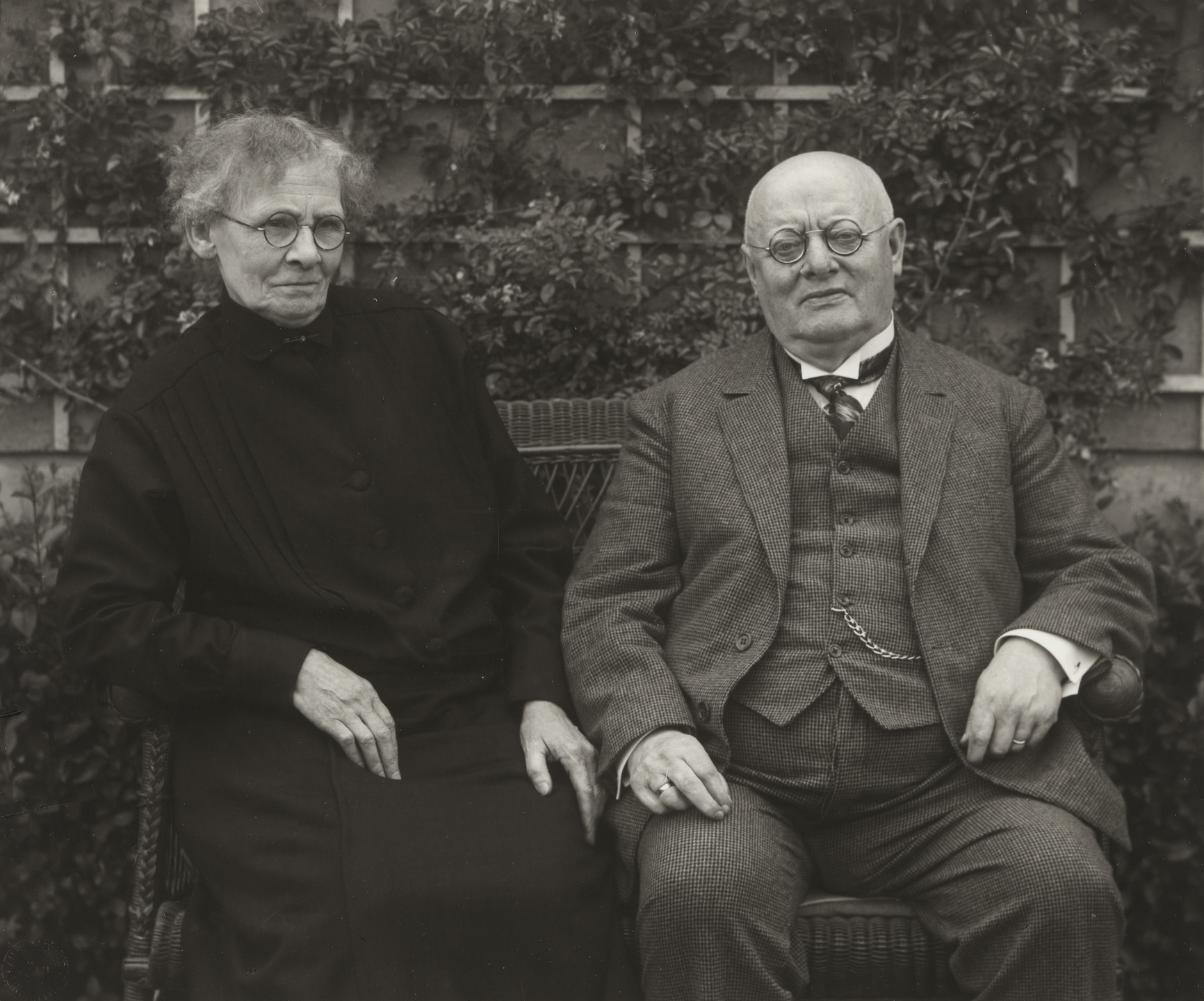 August Sander. Middle-Class Couple, Monschau. 1926