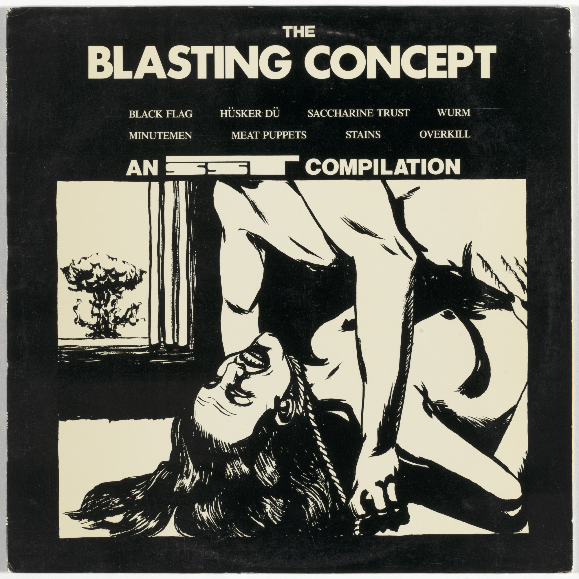 Various Artists, Minutemen, Meat Puppets, Saccharine Trust, Black Flag, Overkill, The Stains, Würm, Hüsker Dü, Raymond Pettibon. The Blasting Concept. 1983