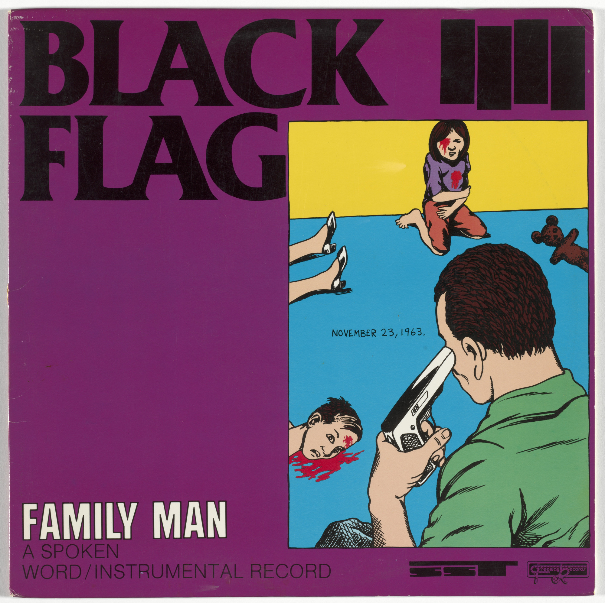 Black Flag, Raymond Pettibon. Family Man. 1984