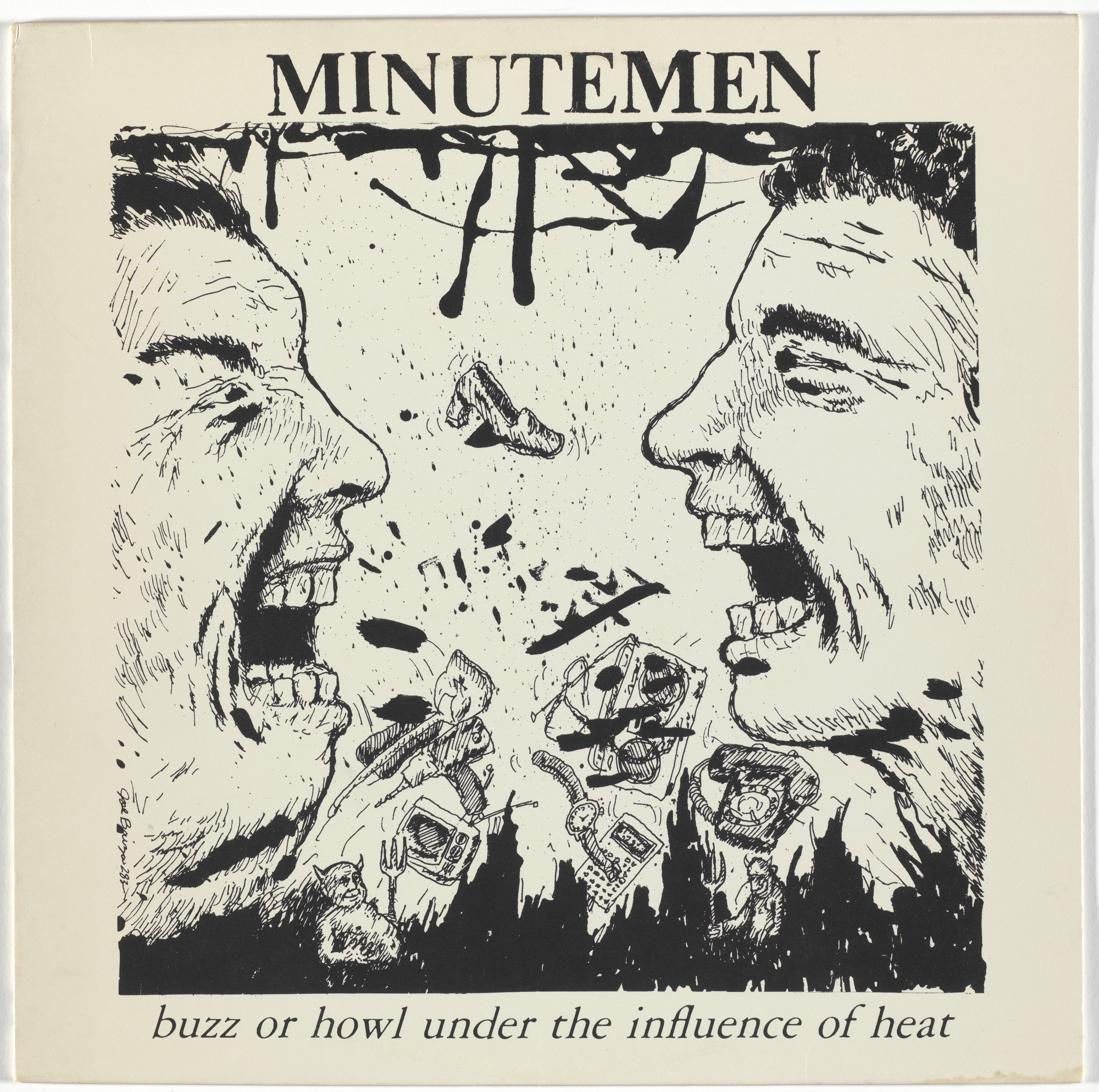 Minutemen, Raymond Pettibon. Buzz or Howl Under the Influence of Heat. 1983