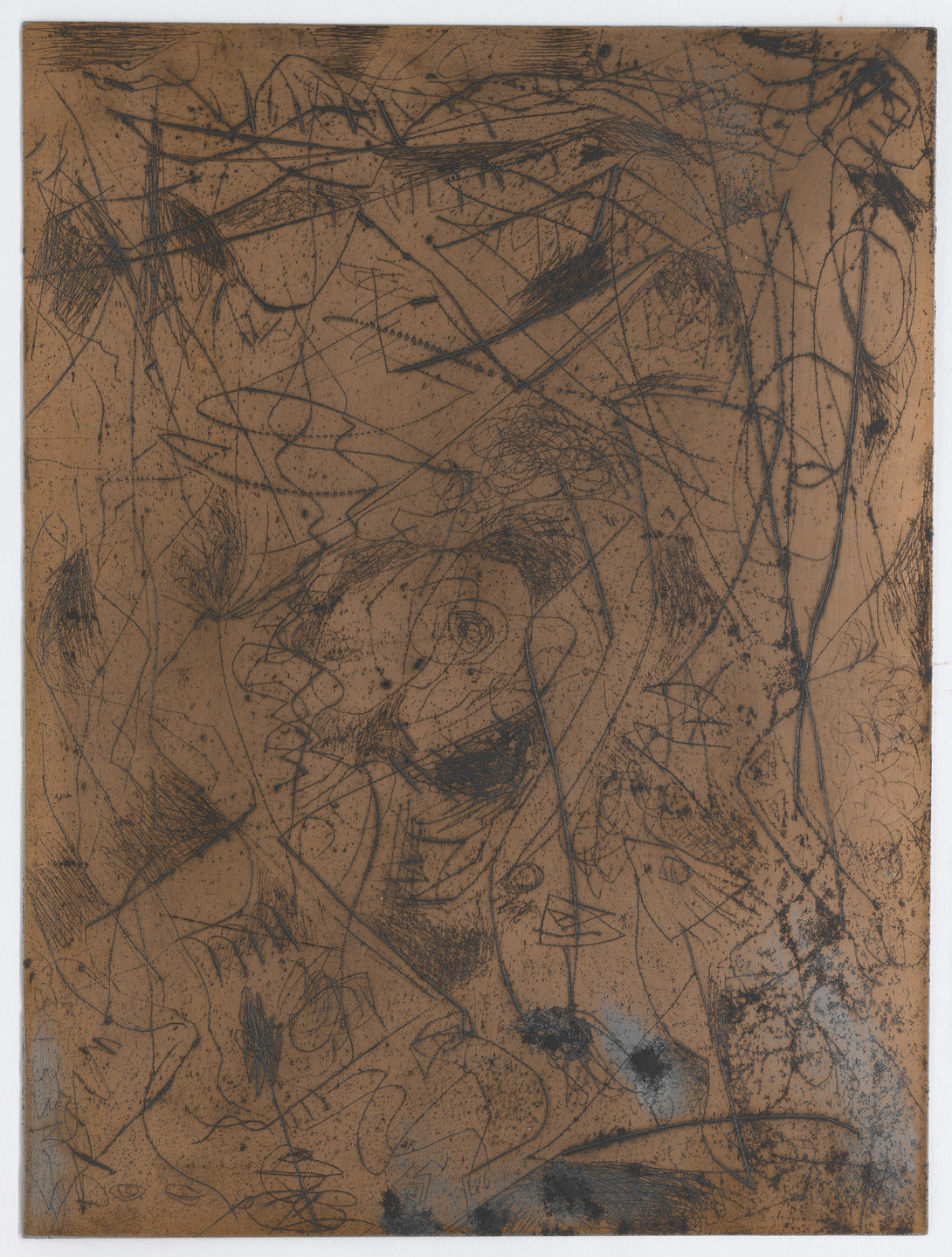 Jackson Pollock. Plate for Untitled (5) and Untitled (6). c. 1944–45