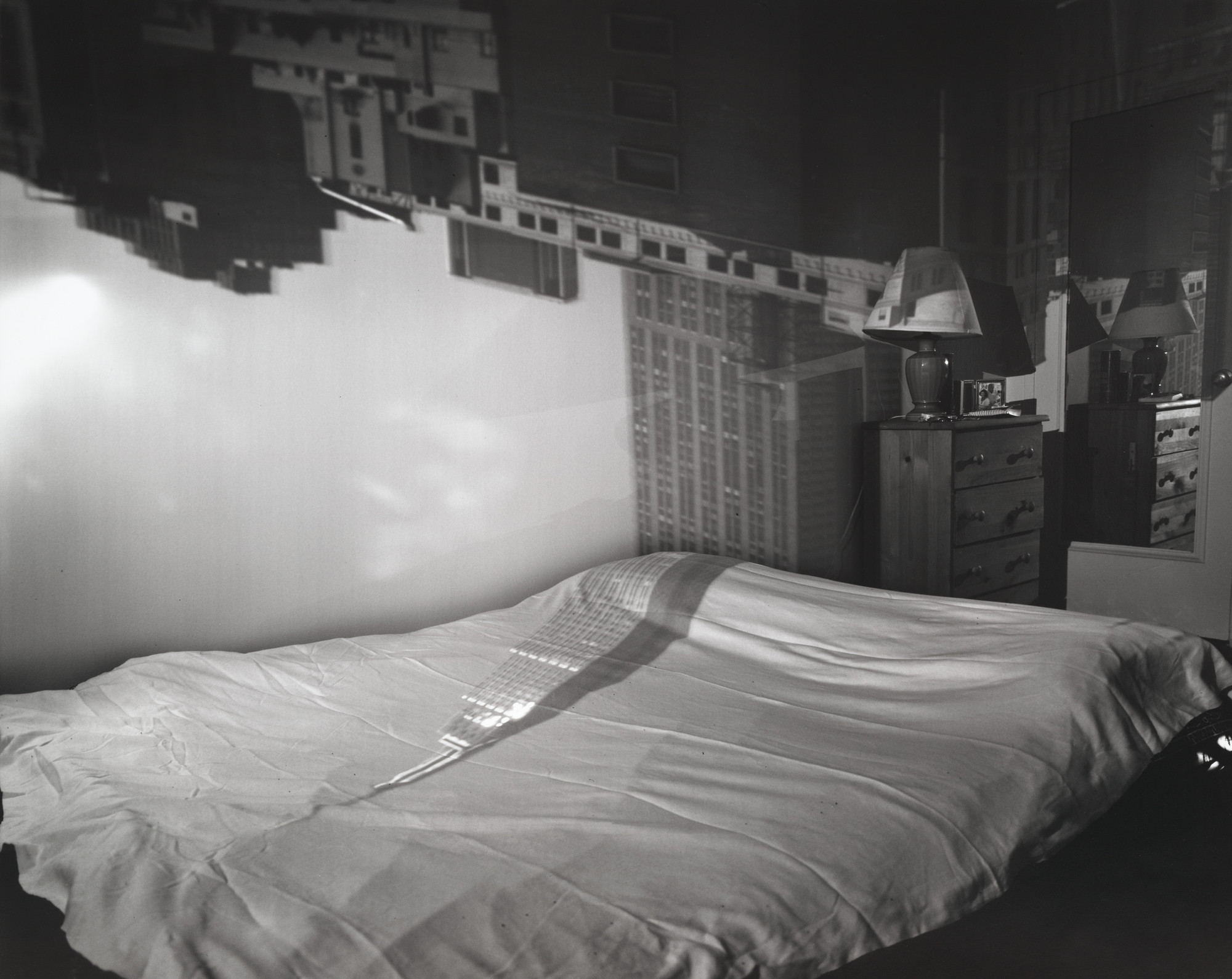 Abelardo Morell. Camera Obscura Image of the Empire State Building in Bedroom. 1994
