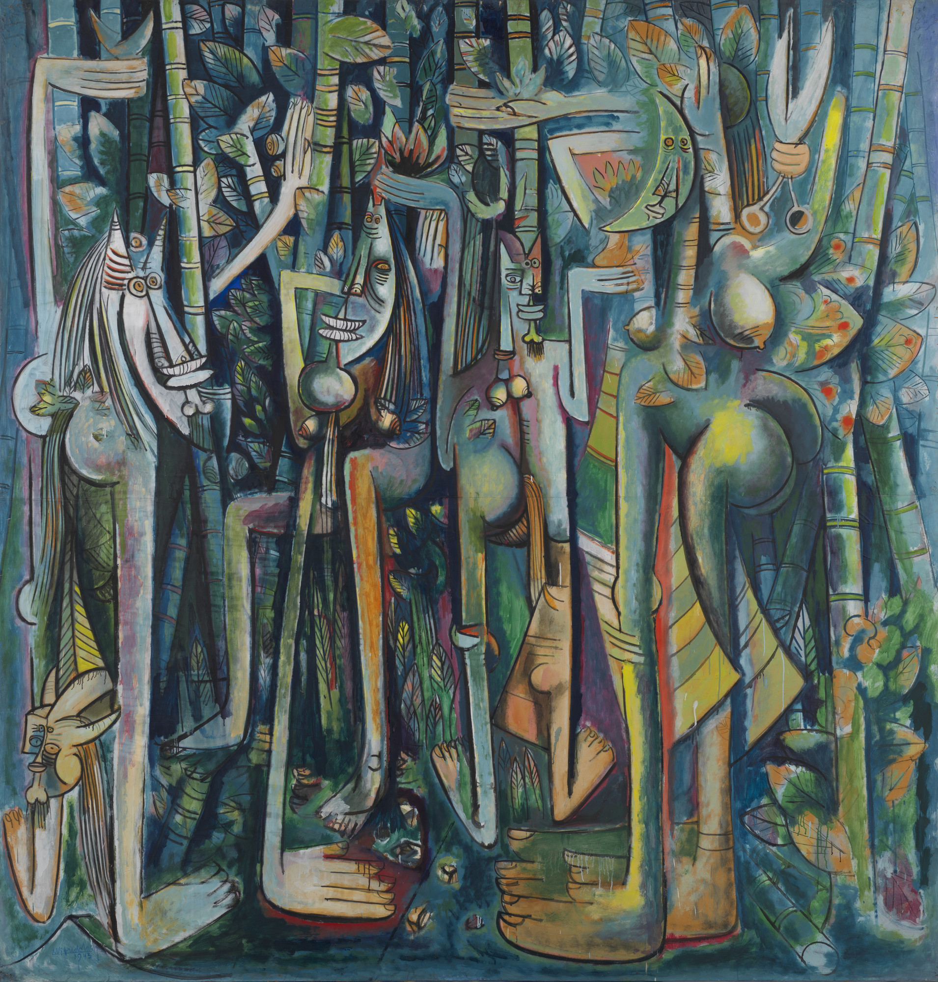 Wifredo Lam. The Jungle (La Jungla). 1943