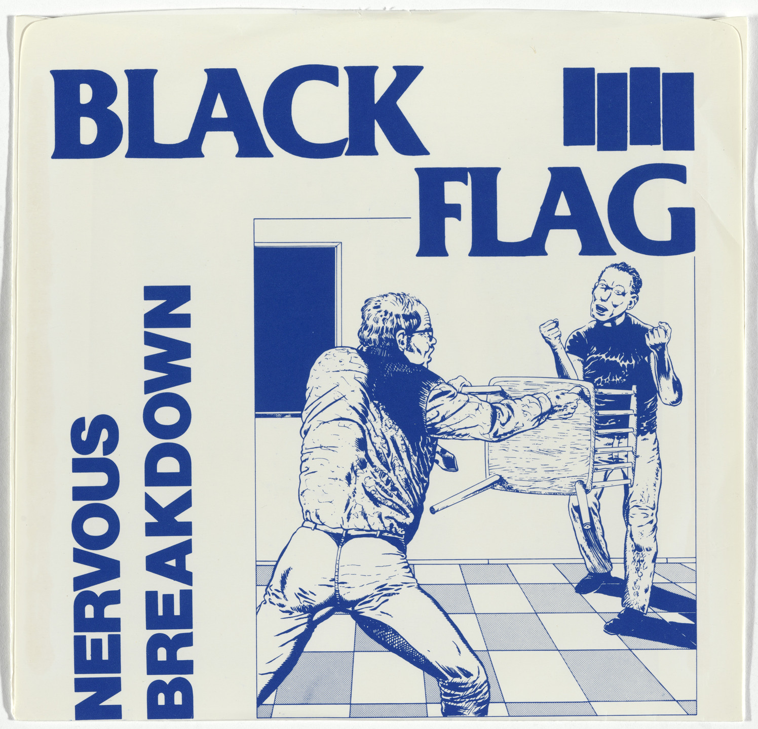 Black Flag, Raymond Pettibon. Nervous Breakdown. 1978