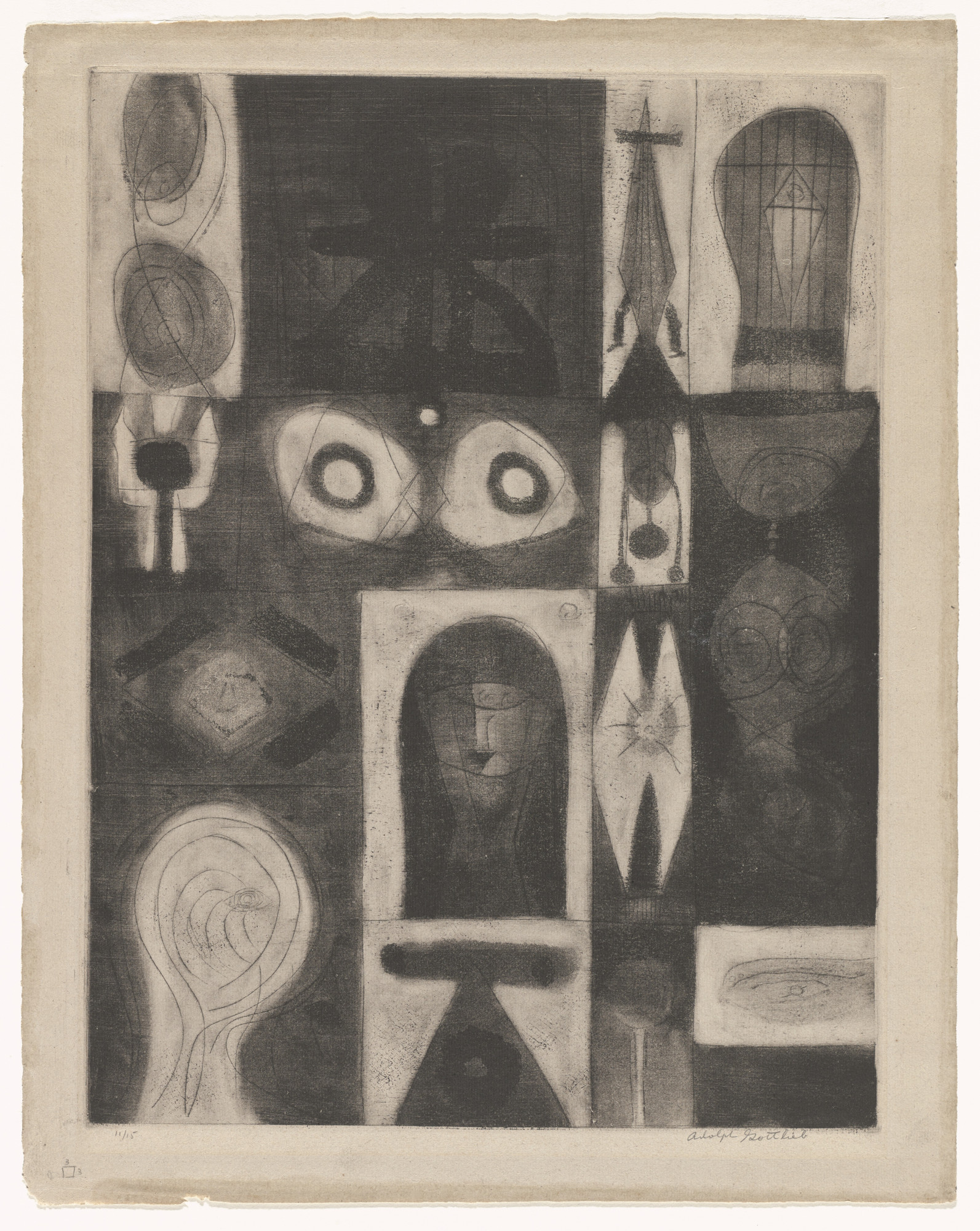 Adolph Gottlieb. Apparition. 1945