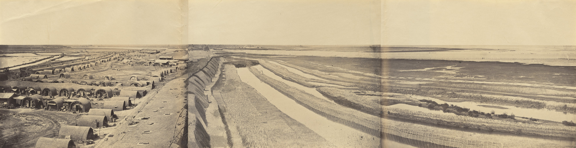 Felice Beato. Interior of the South Taku Fort and Showing the Place of Landing. June 25th, 1859